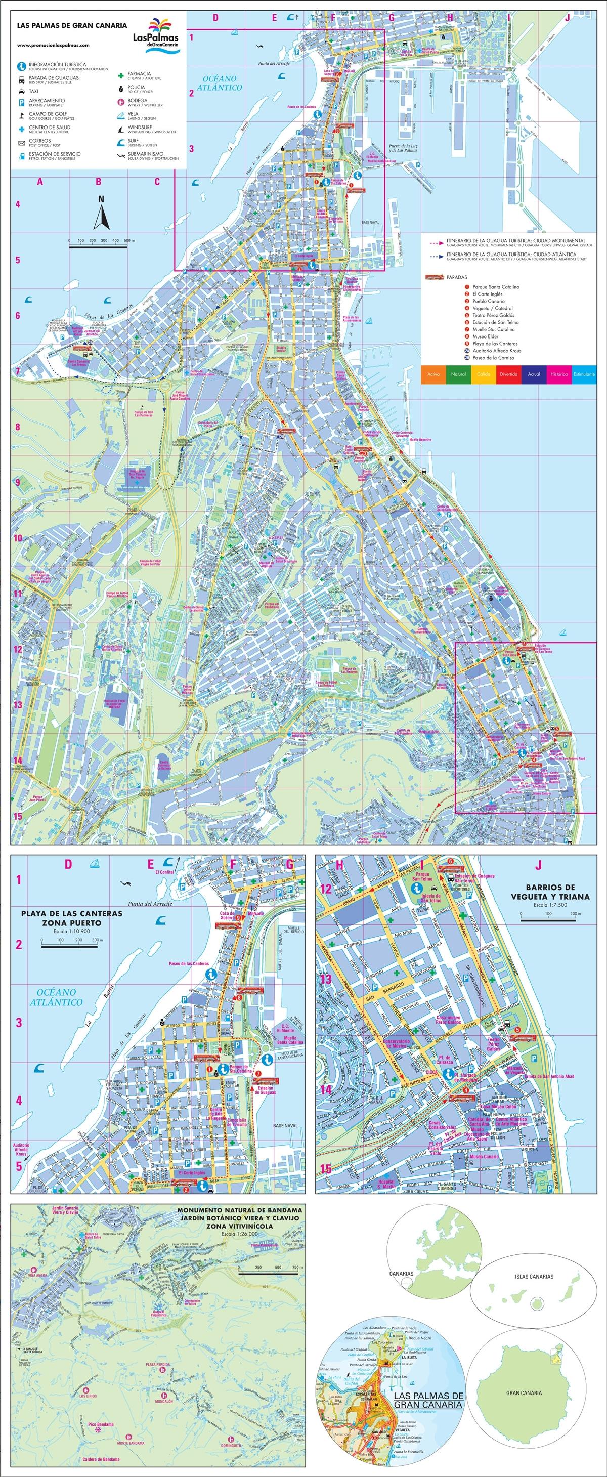 Mapa turístico de Las Palmas 2010