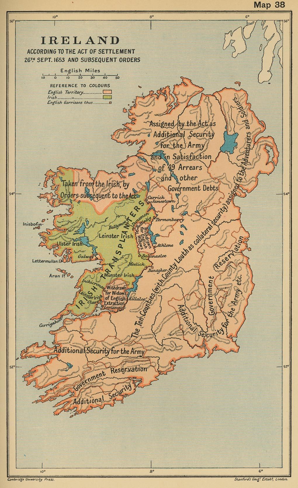 Acta de Establecimiento de Irlanda 1652