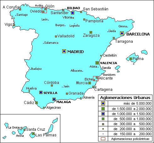 Aglomeraciones urbanas de españa 2006