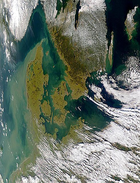 Aguas turbias alrededor de Dinamarca