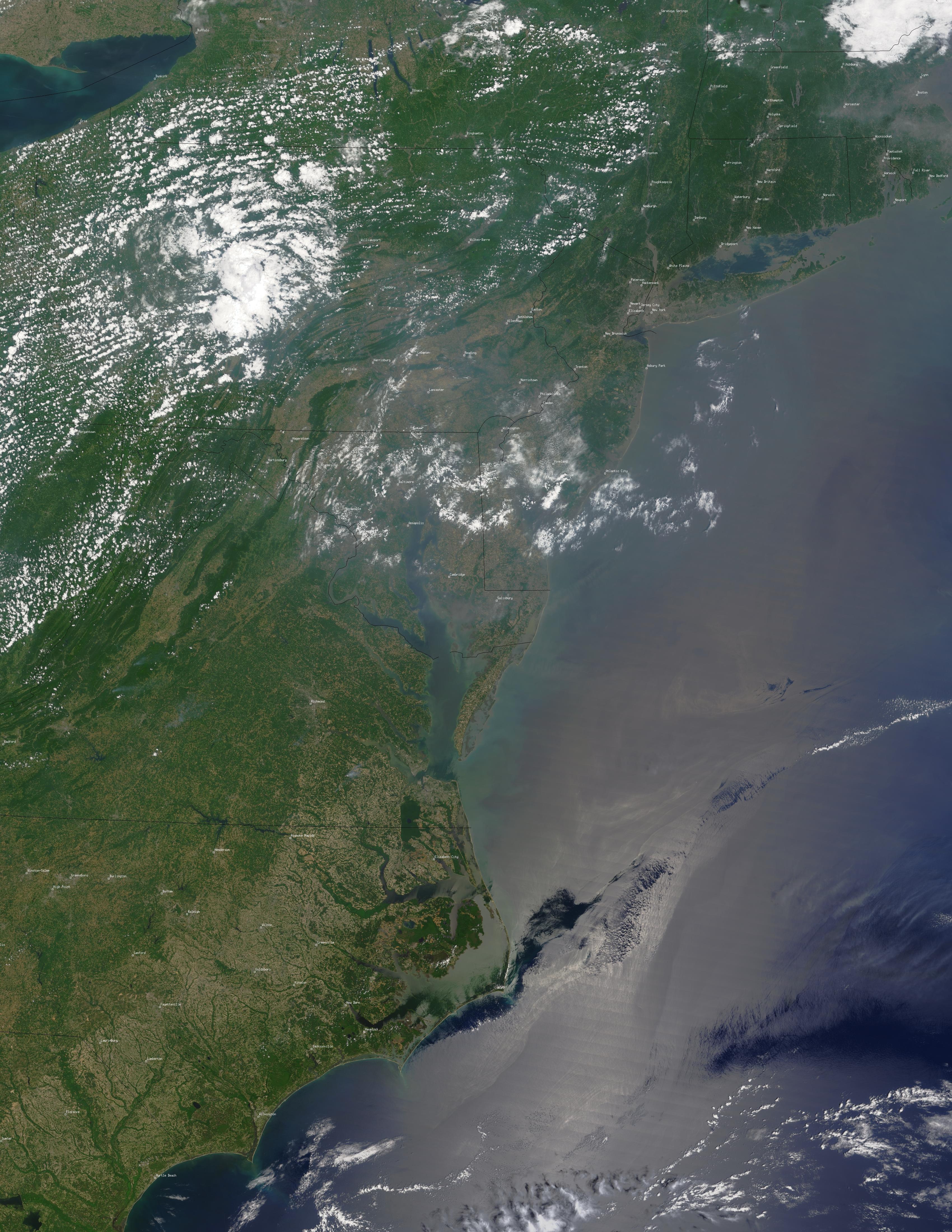 Alerta roja de calidad del aire para los estados del Mid-Atlantic
