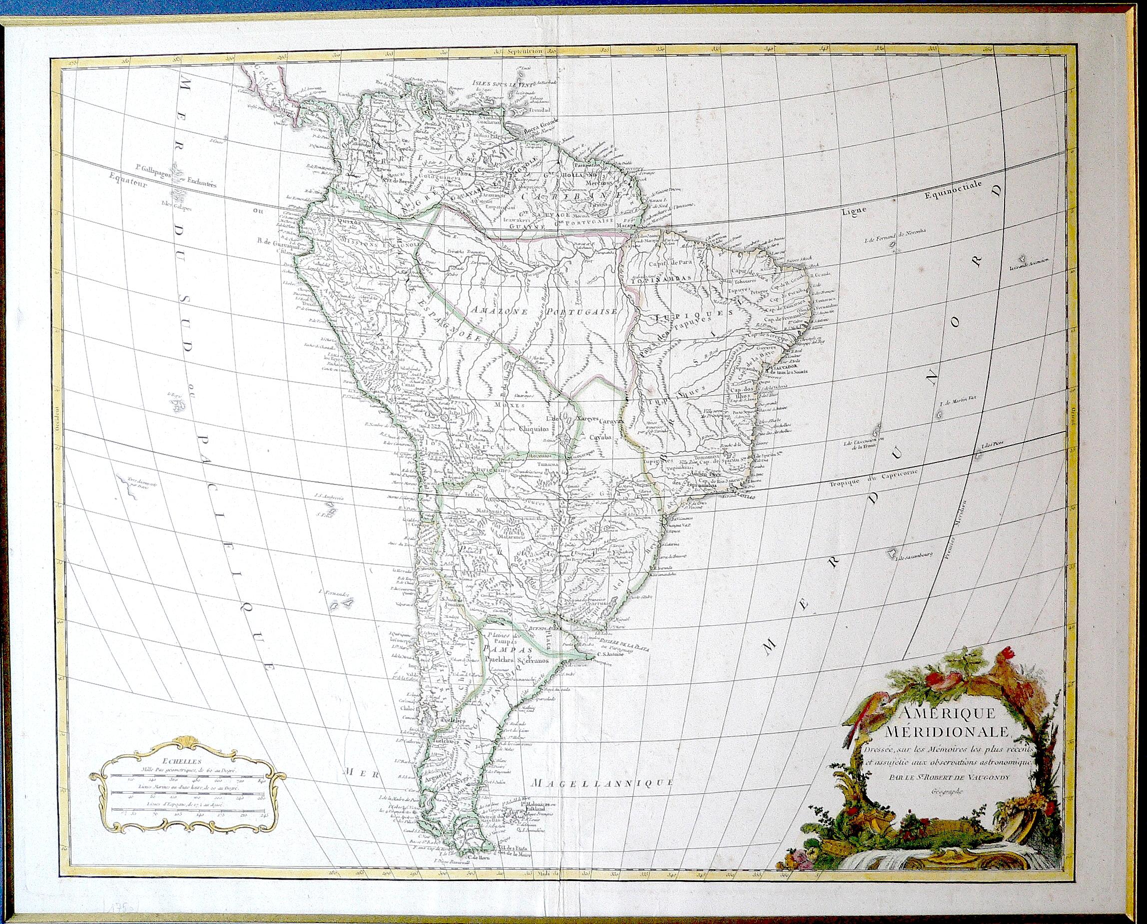 América Meridional 1750