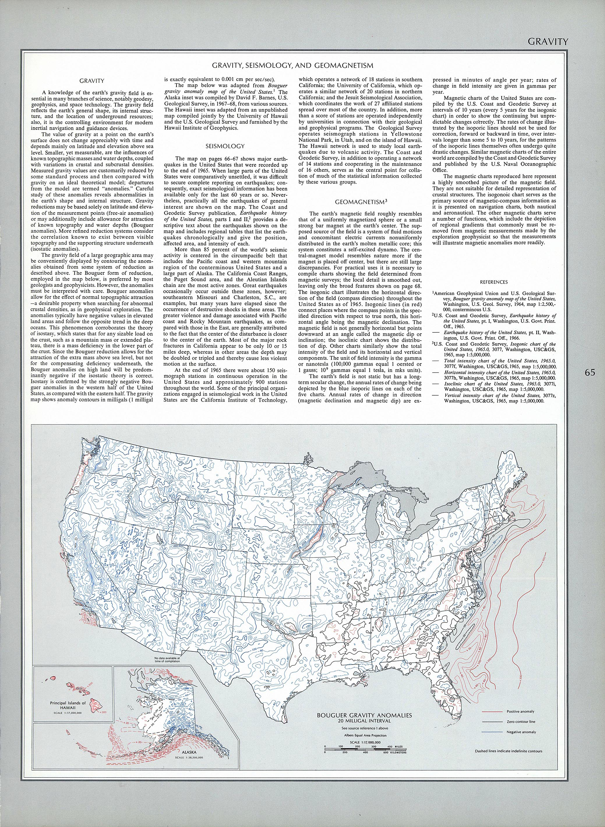 Bouguer Gravity Anomalies in the United States 1970