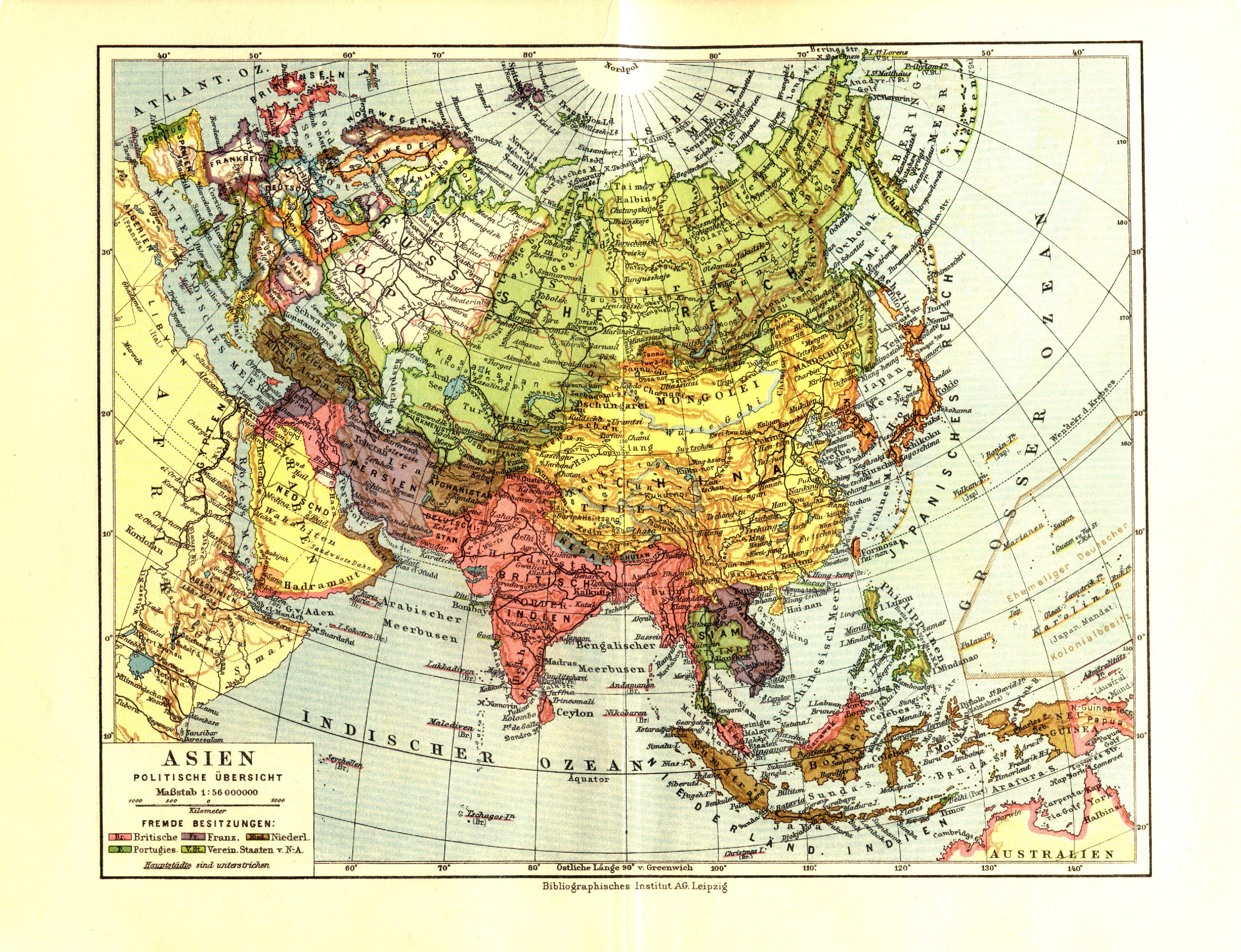 Asia en 1932