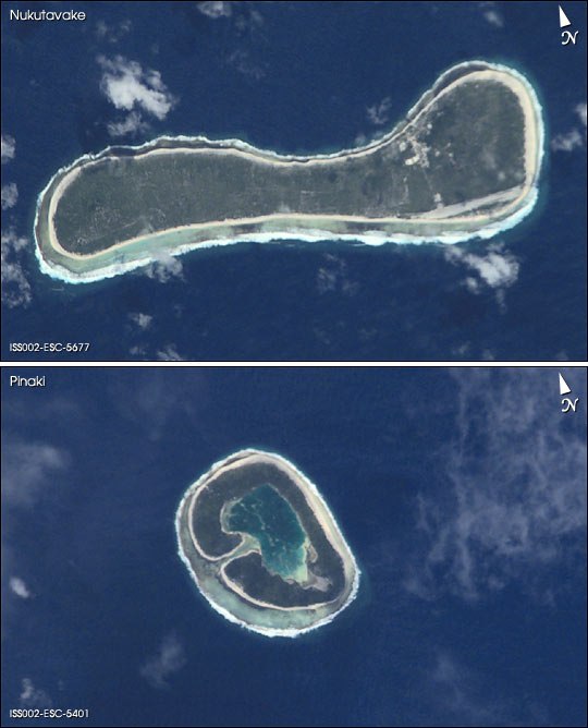 Atolls in the Tuamotu Archipelago, French Polynesia
