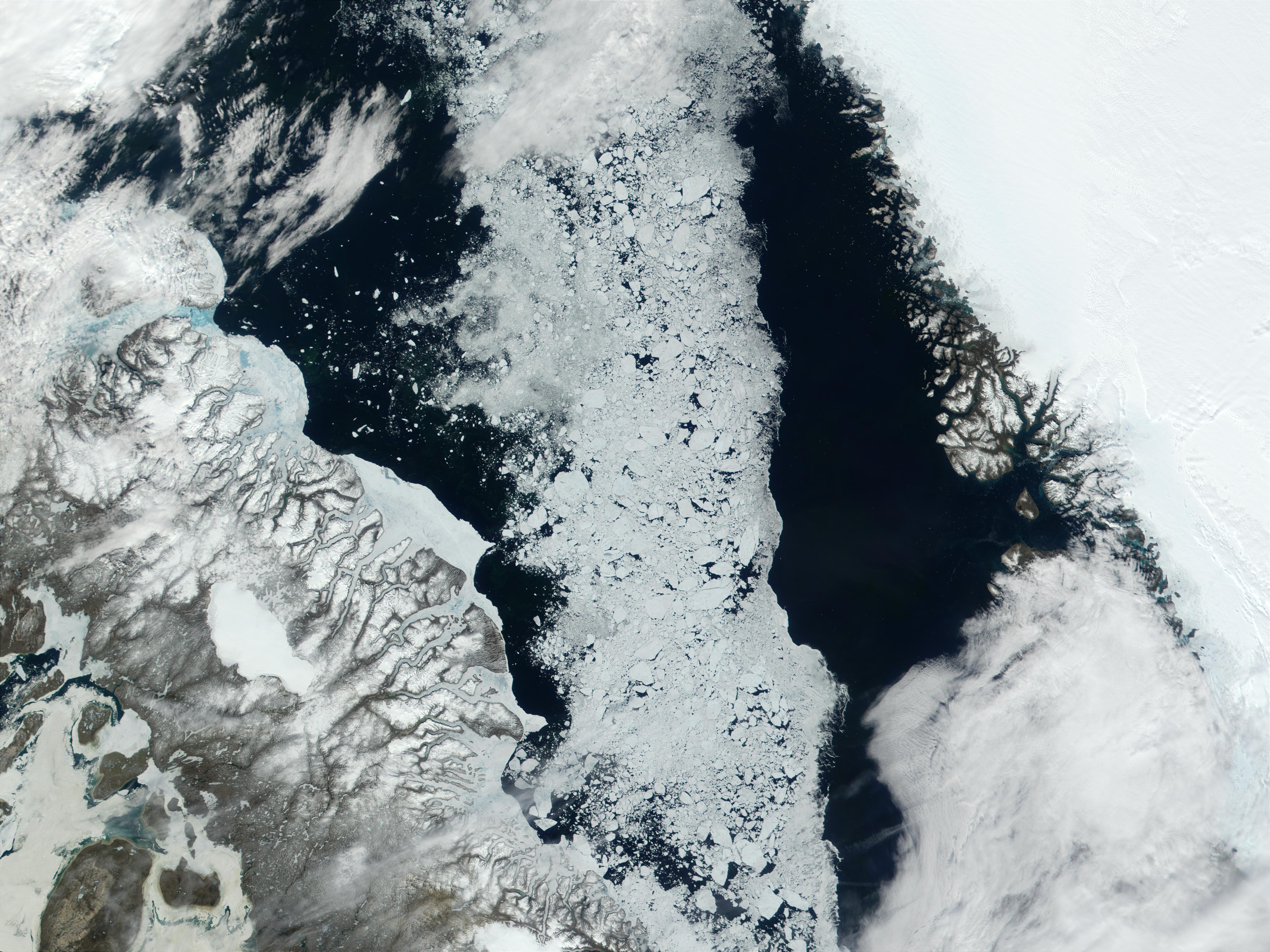 Bahía de Baffin, norte de Canadá