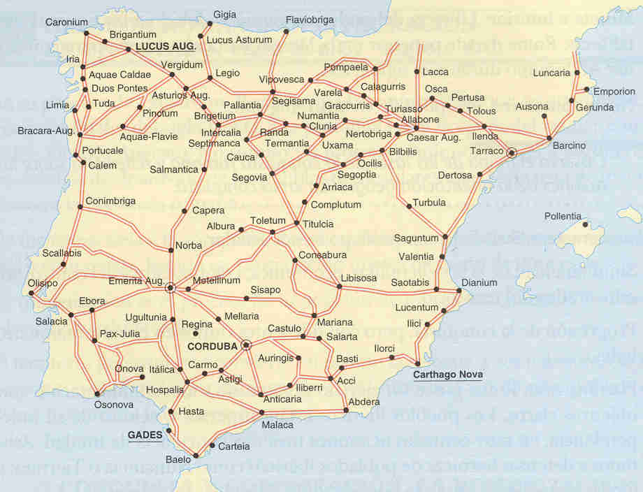 Roman roads in Hispania