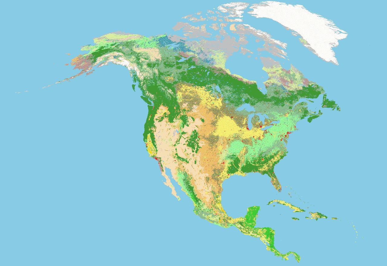 Soil characterization of North America