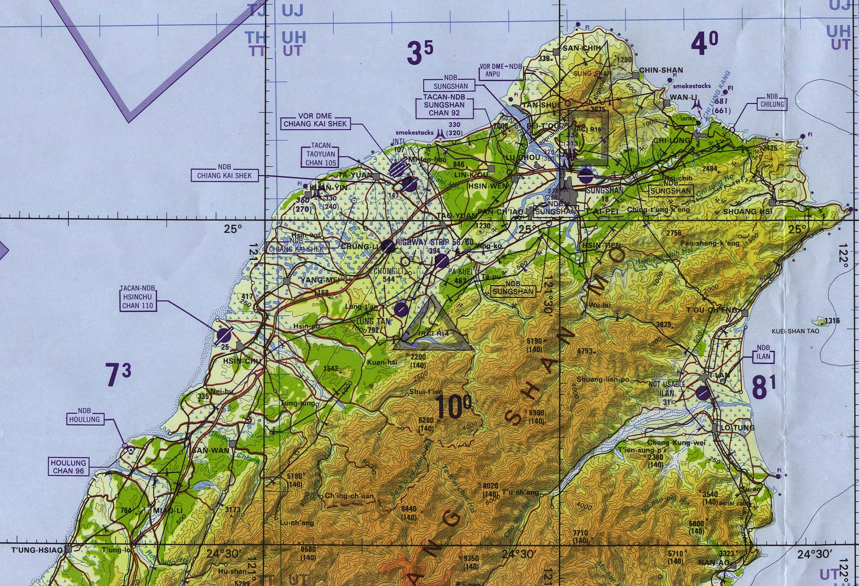 Northern Taiwan Tactical Pilotage Chart