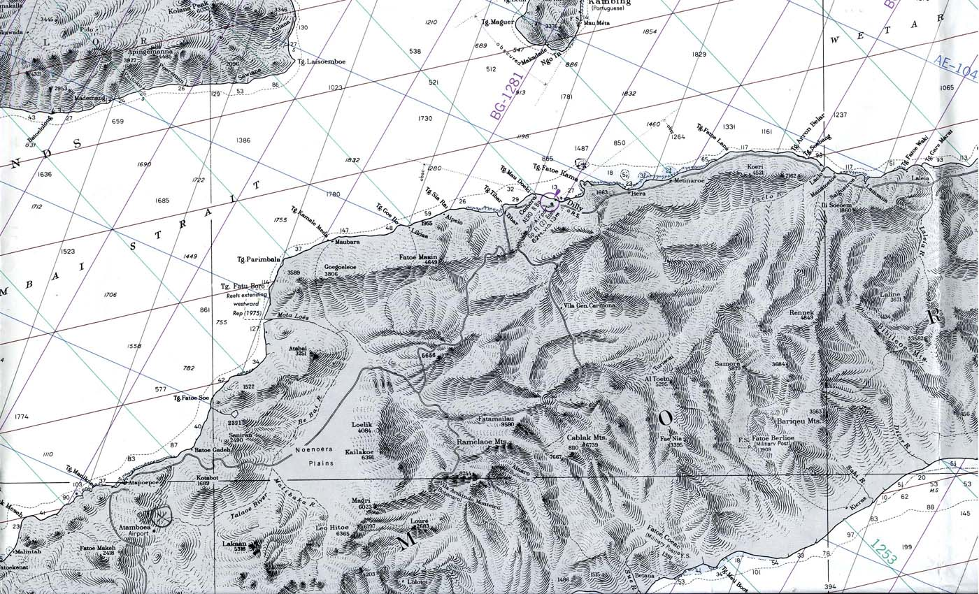 Central Timor Island Nautical Chart