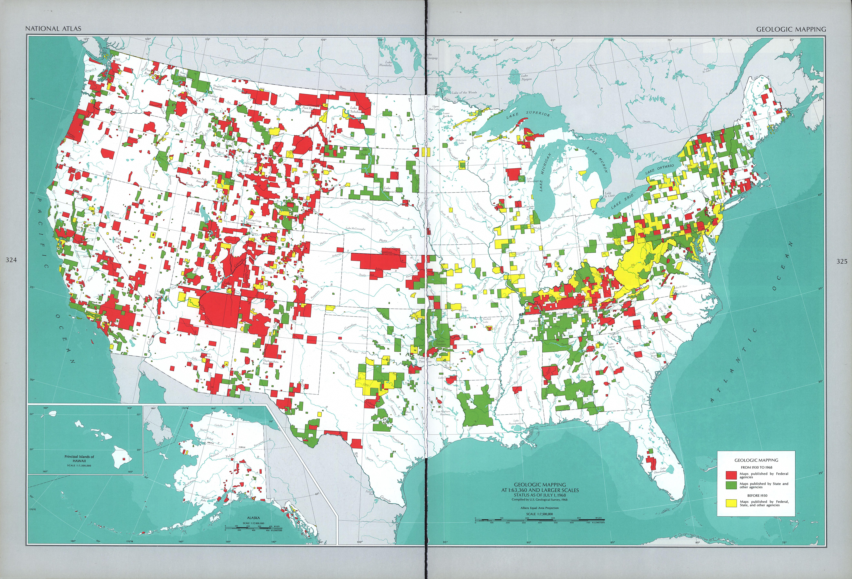 Cartografía Geológica de Estados Unidos
