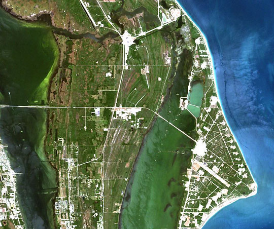 Kennedy Space Center from Landsat 7