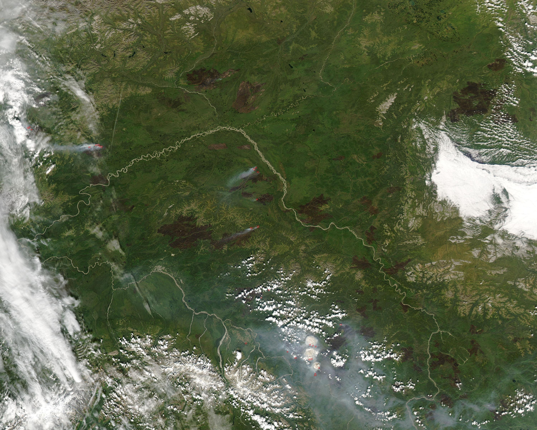 Cicatrices de fuegos en Alaska Central