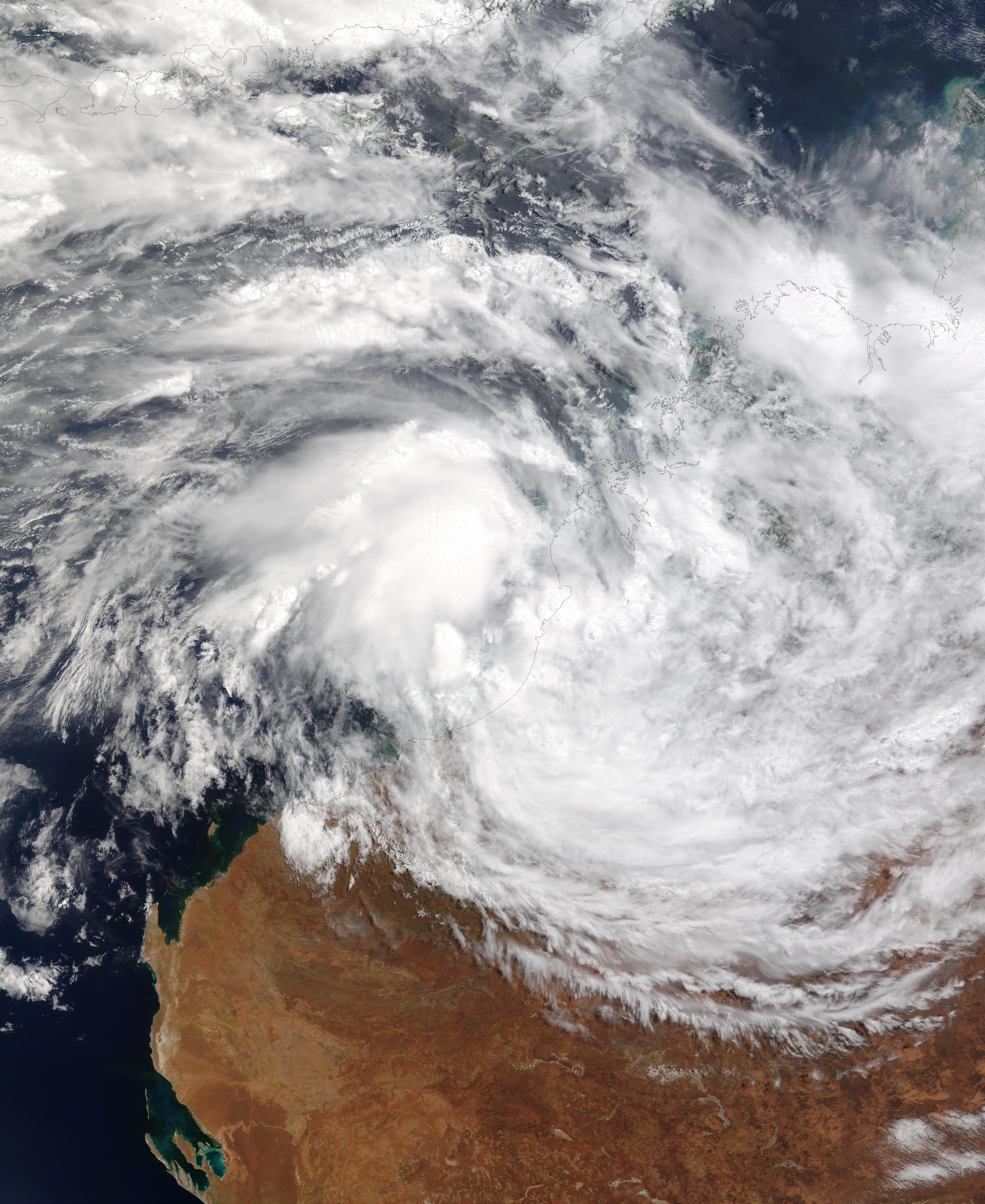 Tropical Cyclone Graham (20S) off Australia
