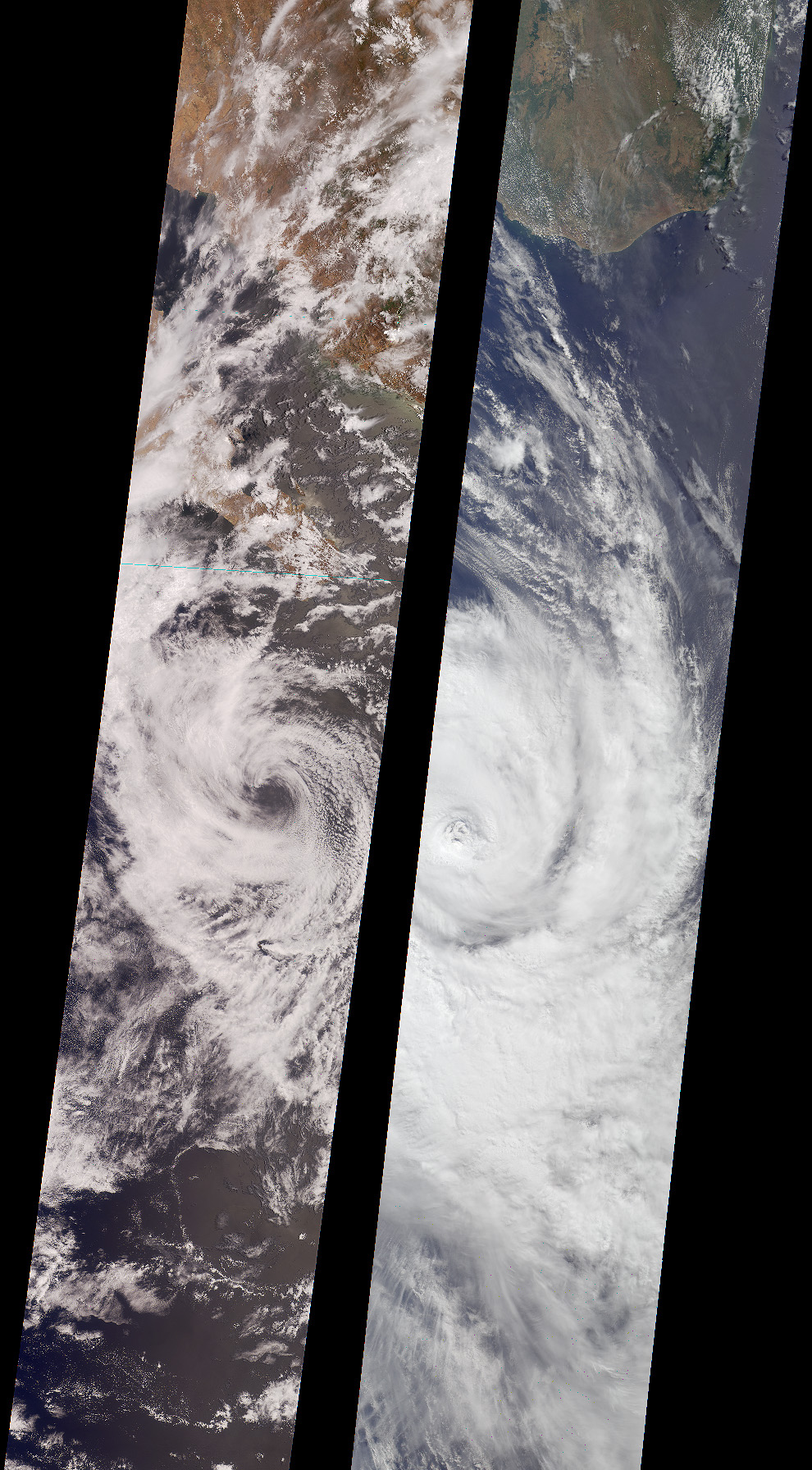 Tropical Storms Bud and Dera