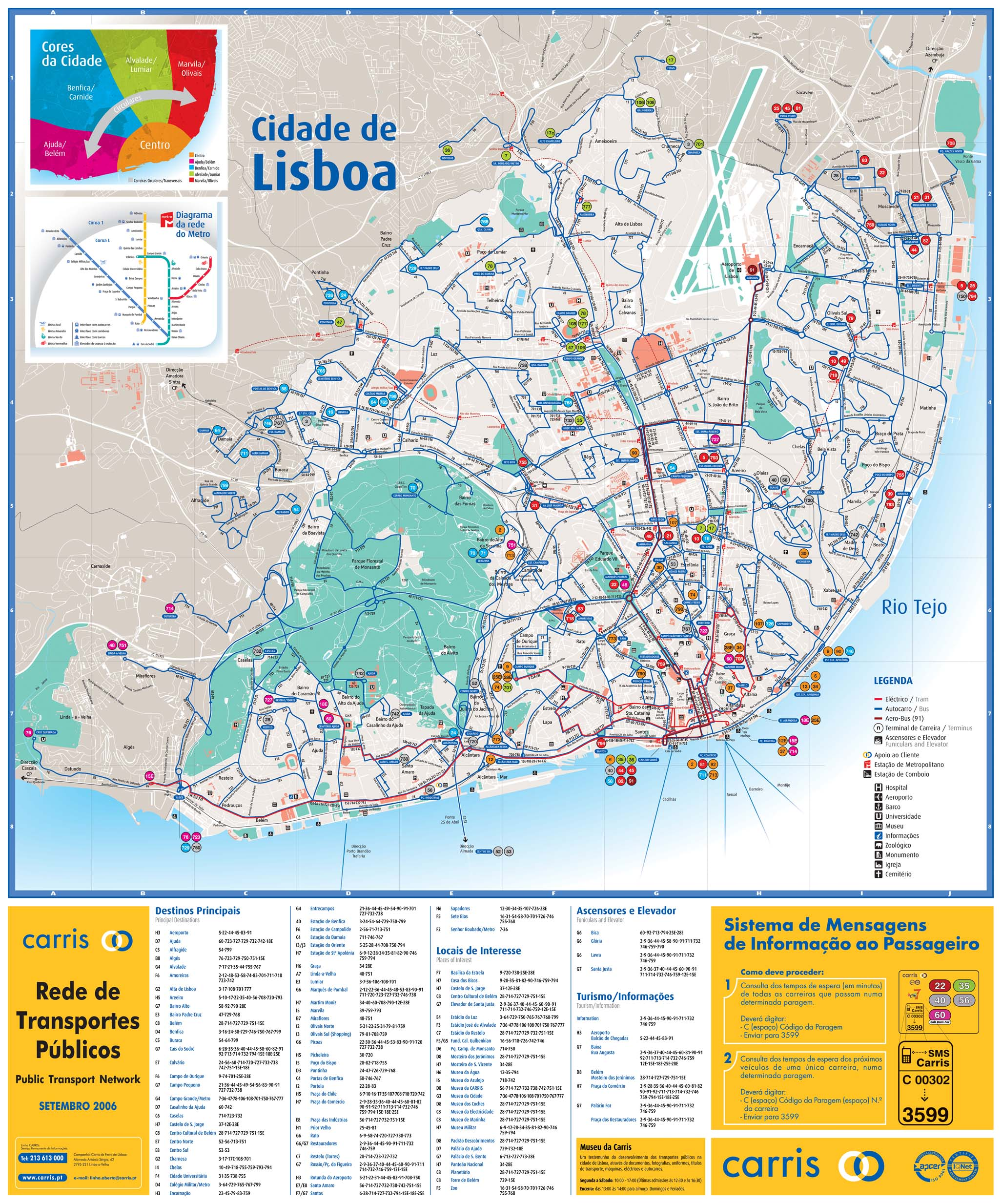 City of Lisbon Map, Portugal