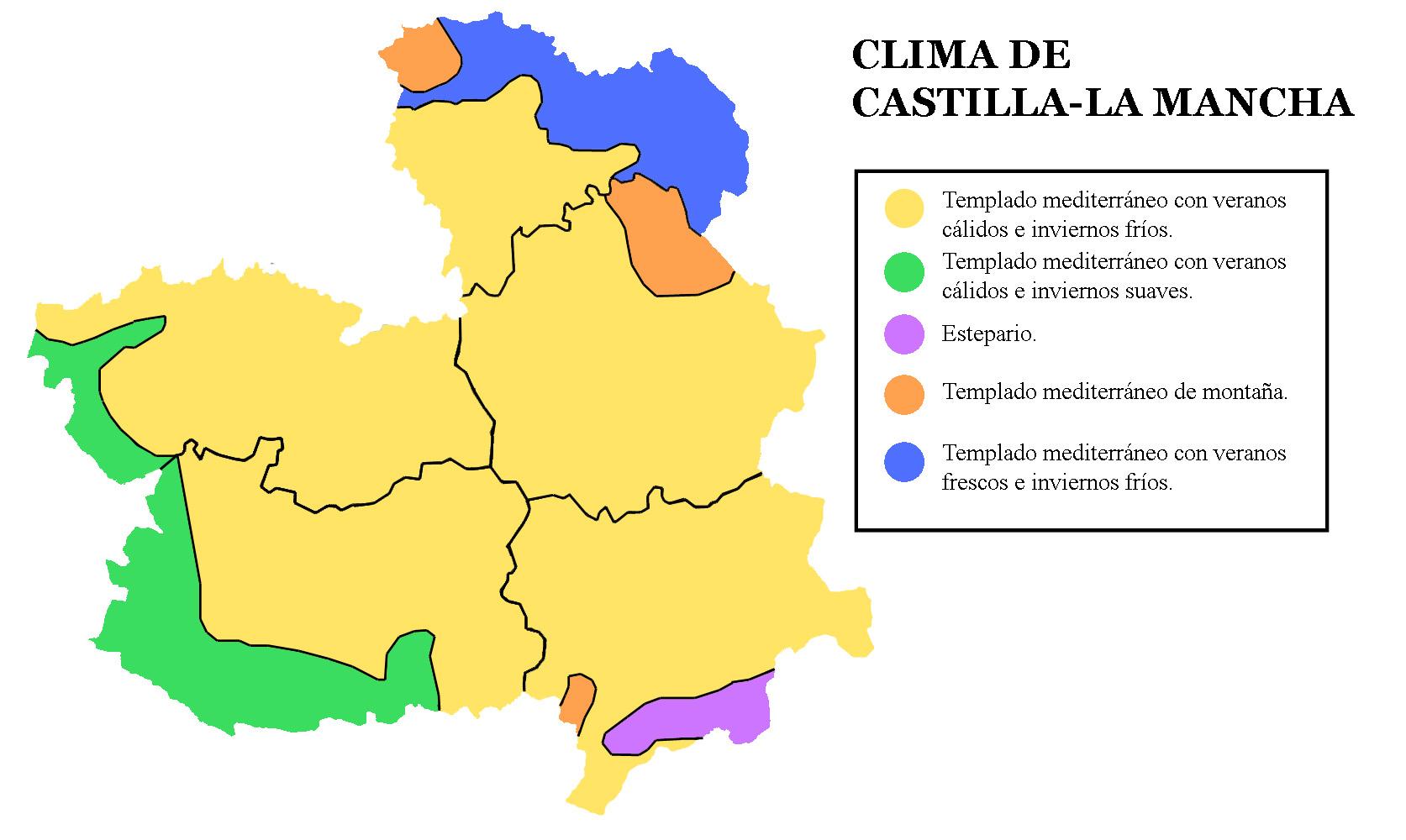 Climates of Castile-La Mancha 2007