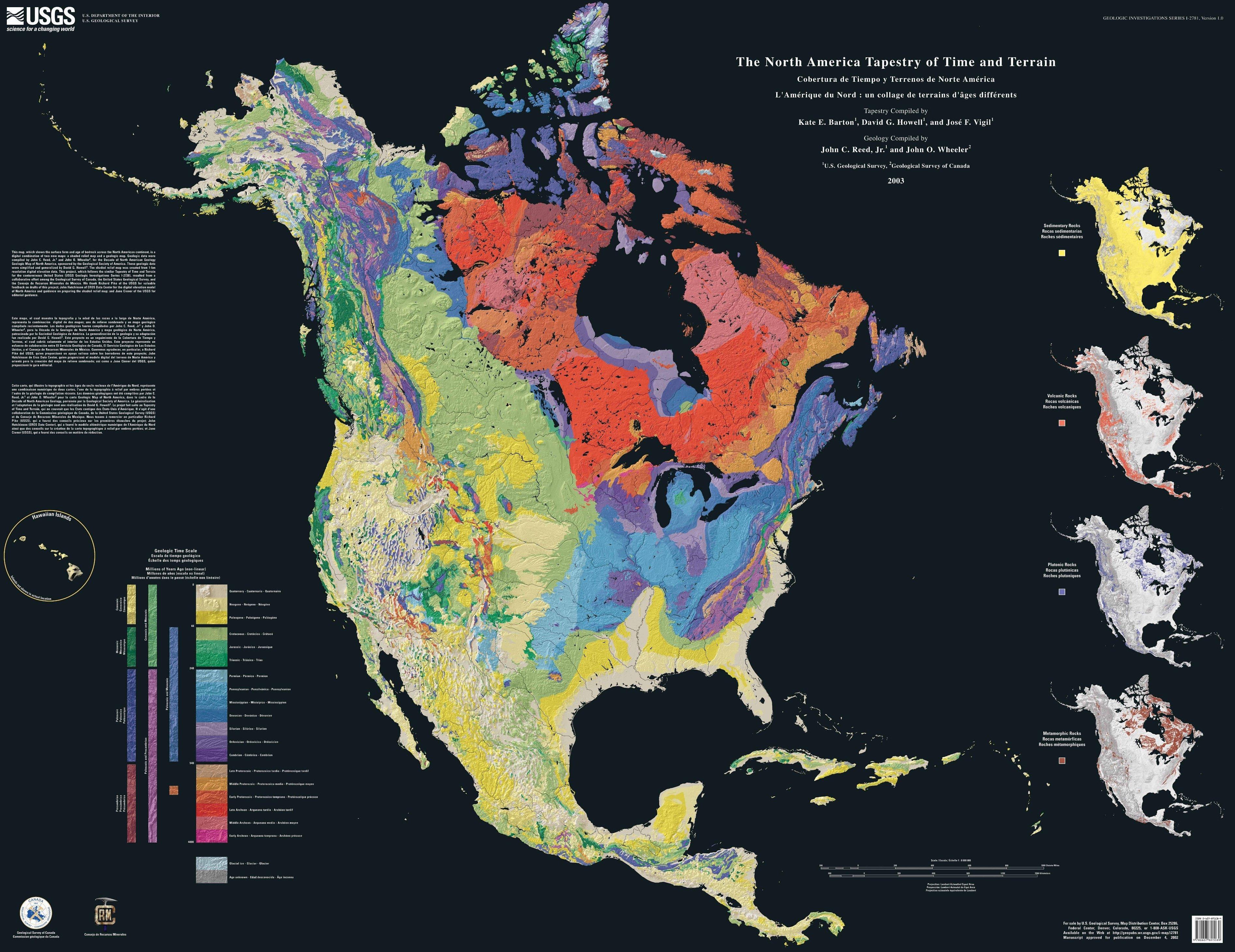 Cobertura de Tiempo y Terrenos de América del Norte