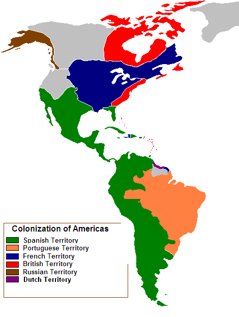 Colonization of the Americas 1750