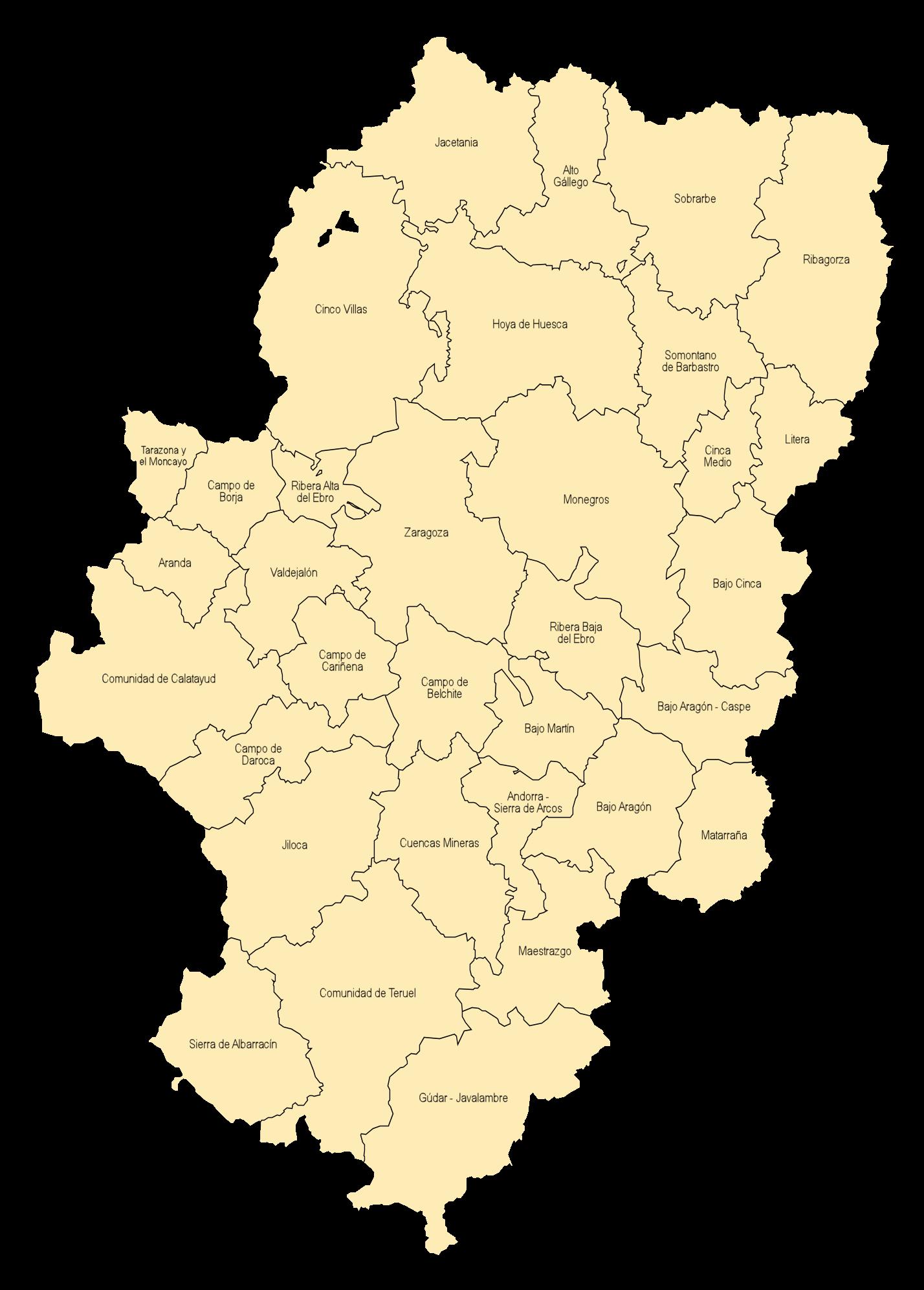 Comarcas of Aragon 2006