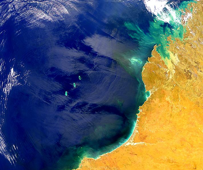 Compleja reflexión solar en Australia noroccidental