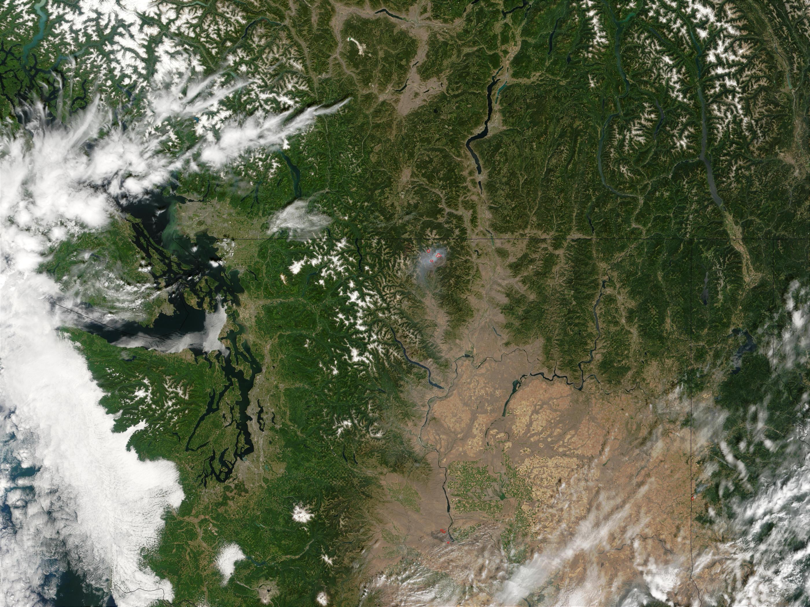 Complejo de incendios Fawn Peak, Washington