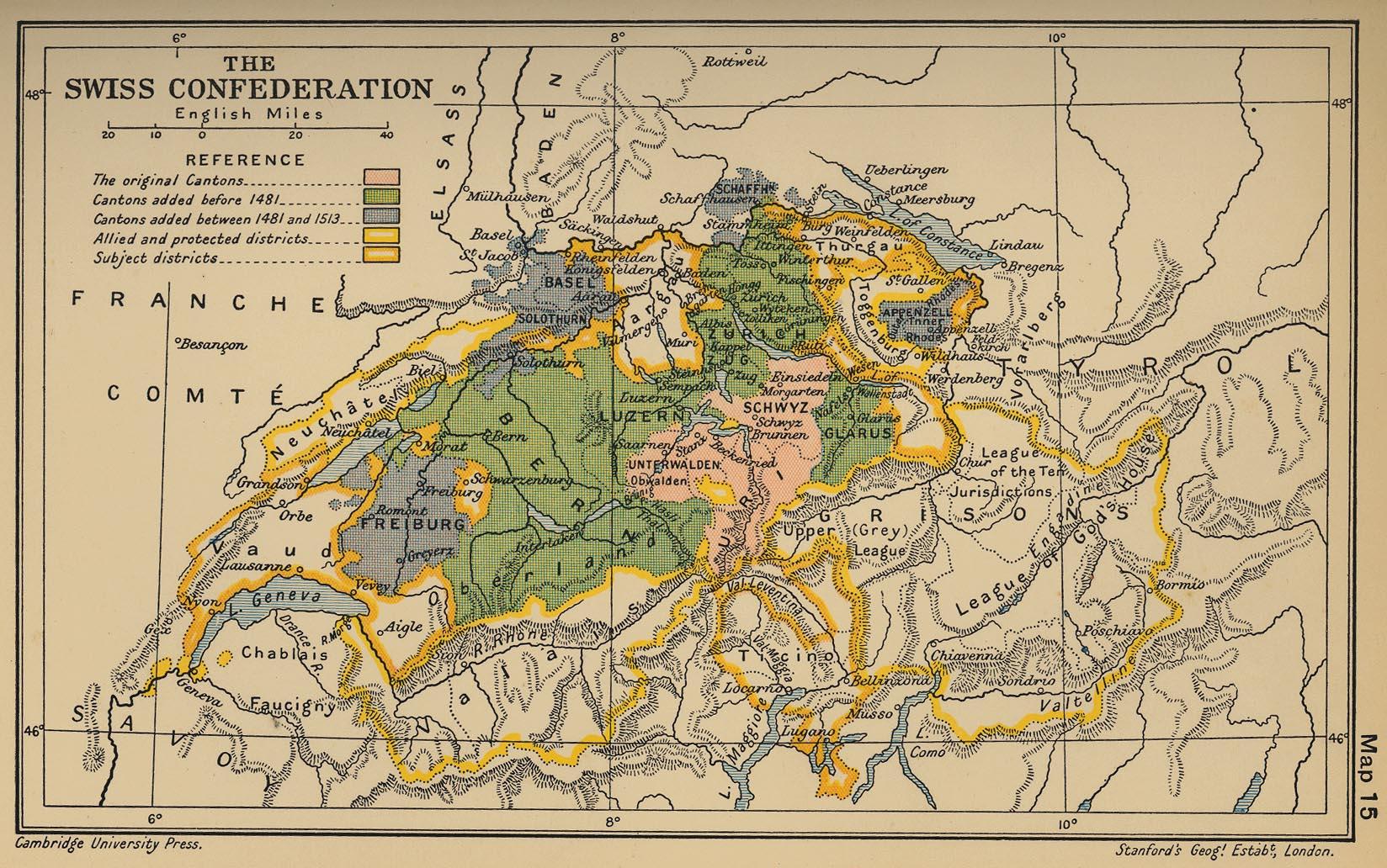 Confederación Suiza en 1513