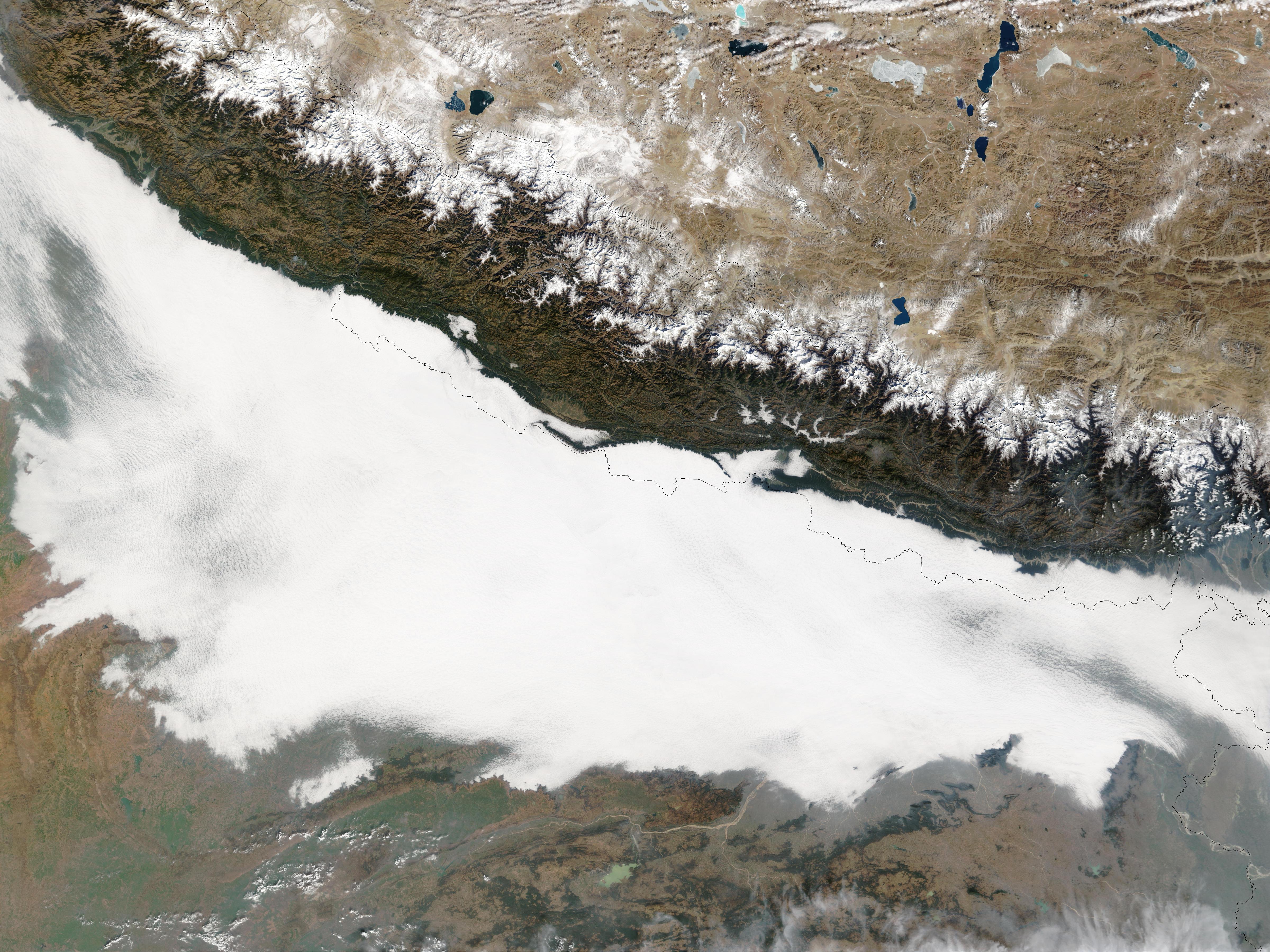 Contaminación atmosférica en el norte de India