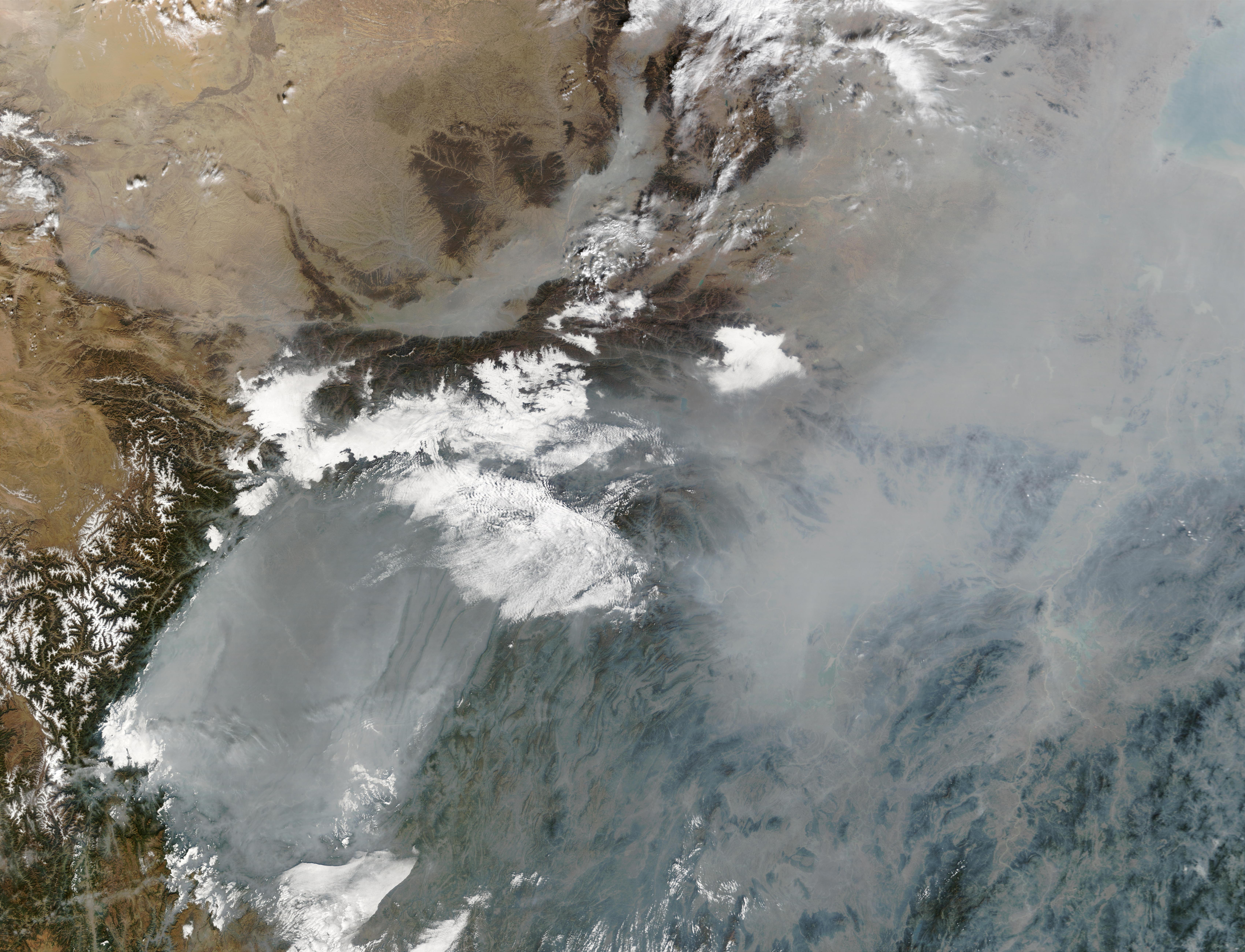Contaminación en China central