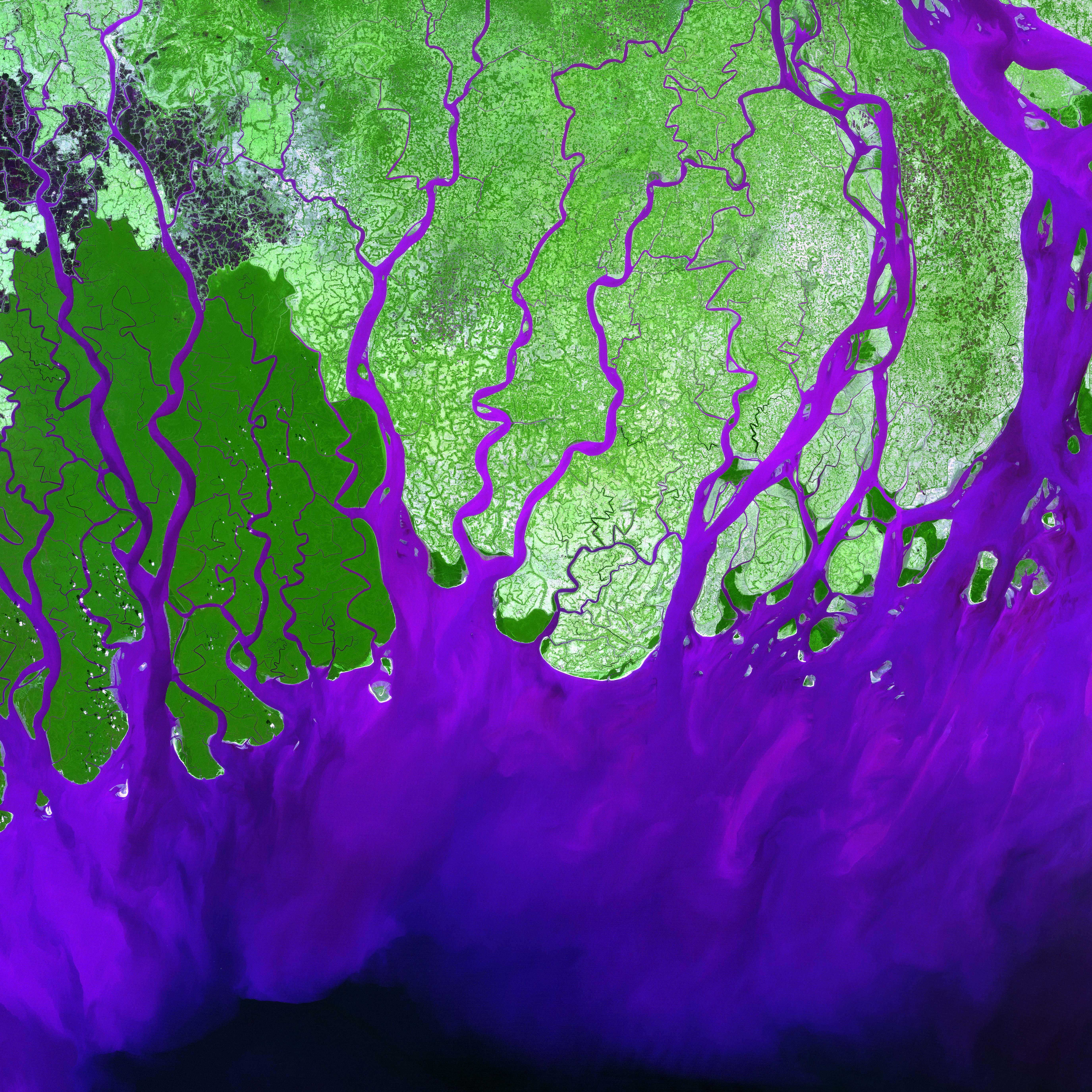 Mapa de Delta del r�o Ganges