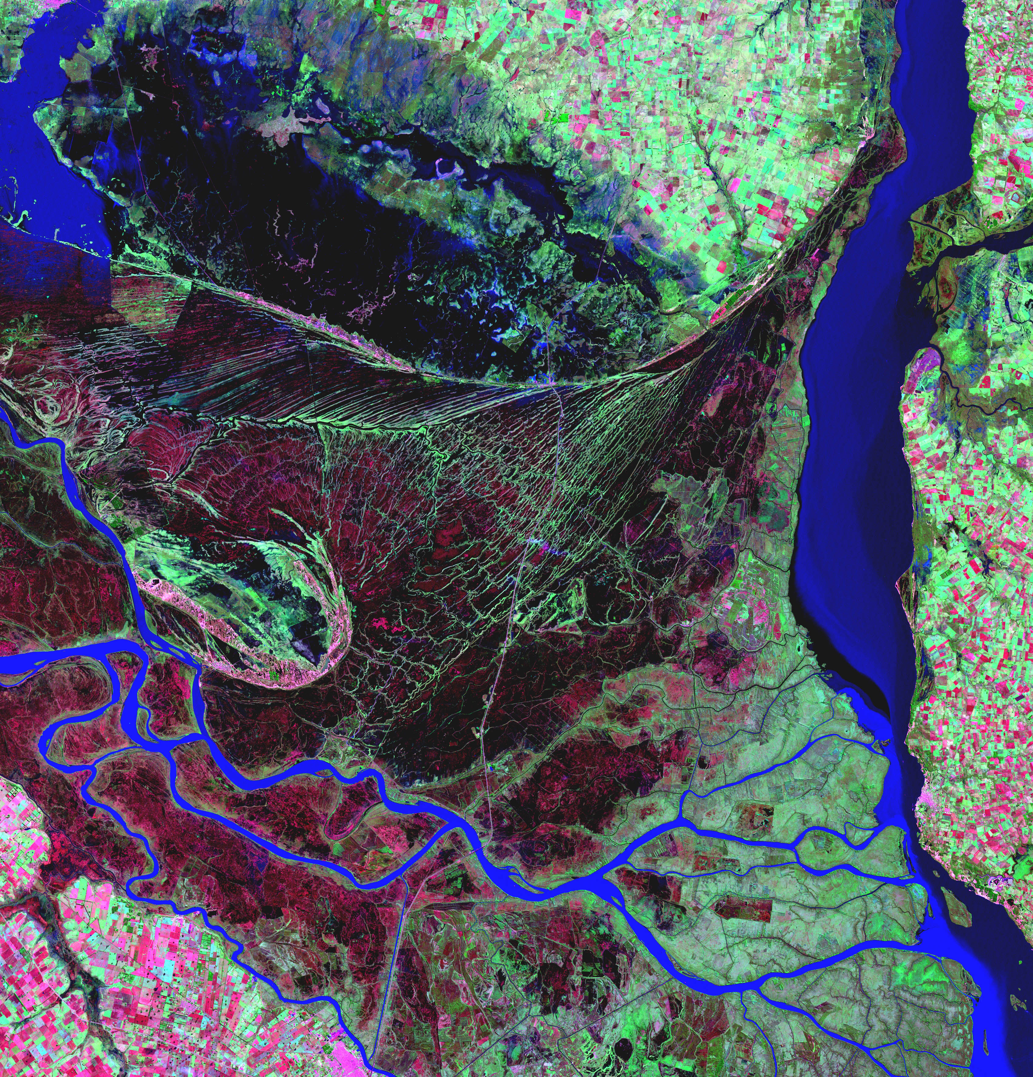 Delta del río Parana en Argentina