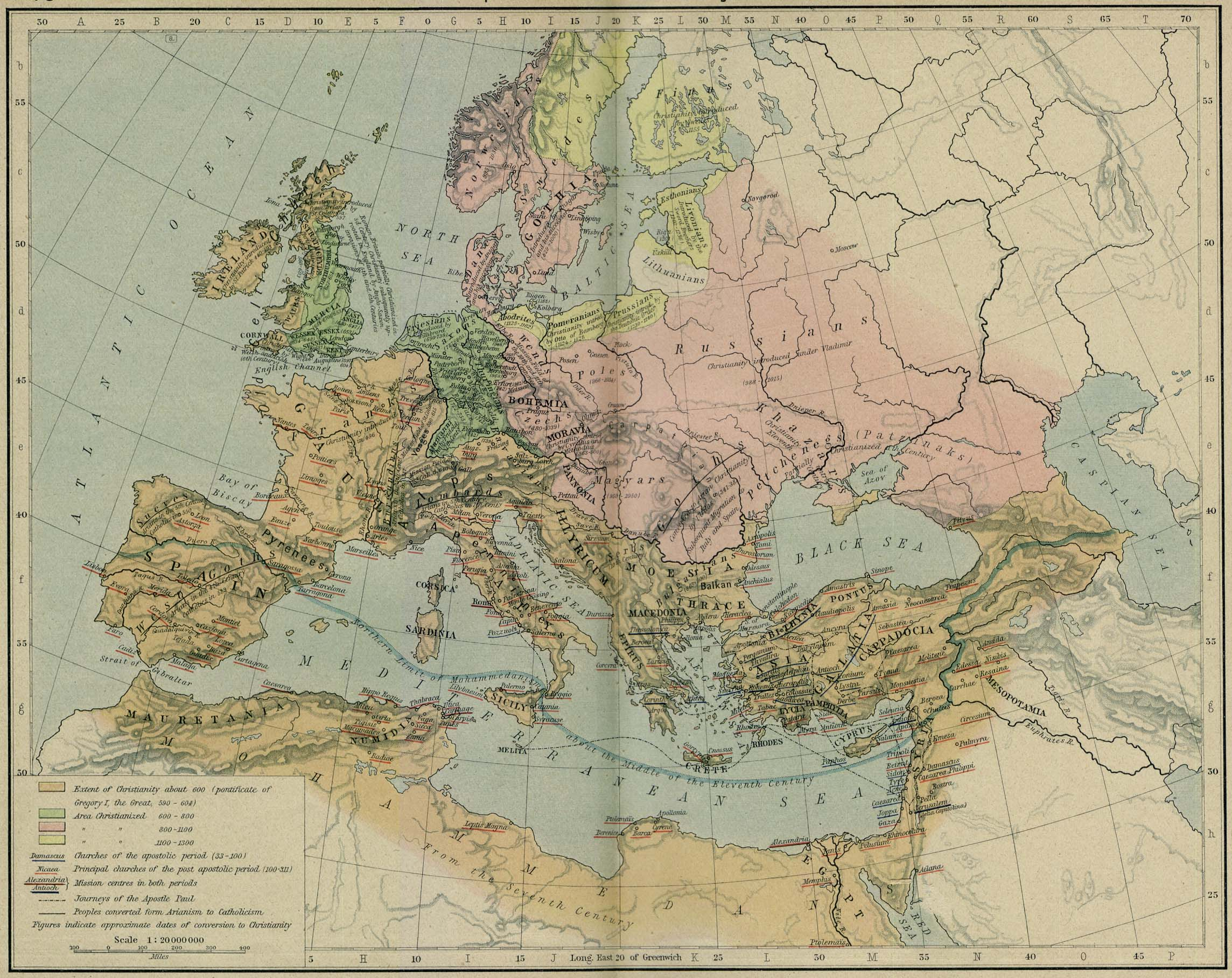 Development of Christianity in Europe 590 to 1300