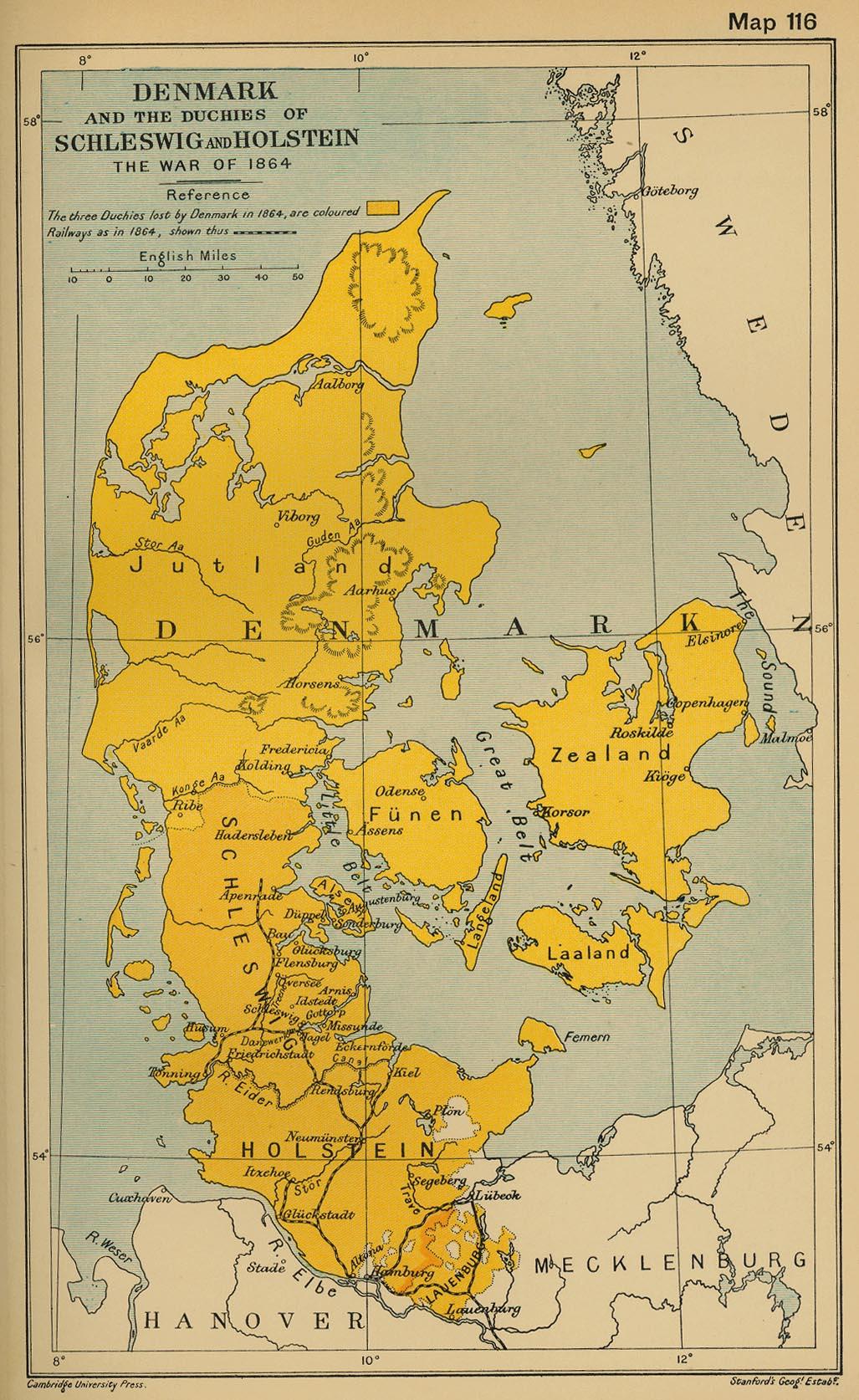 Dinamarca y los ducados de Schleswig y Holstein 1864
