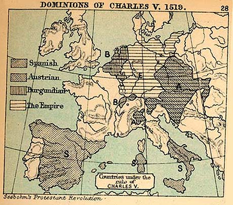 Dominions of Charles V., 1519