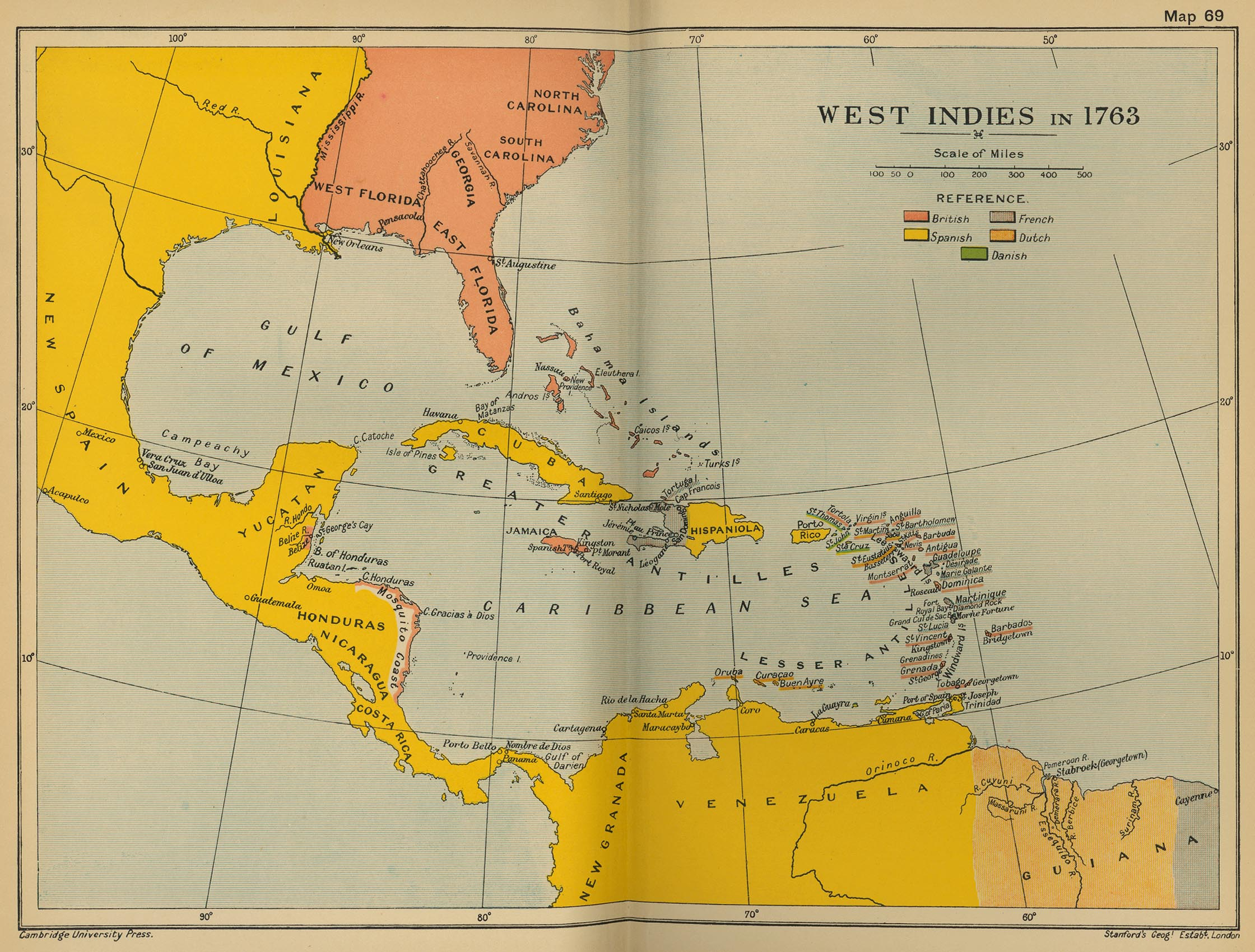 West Indies in 1763