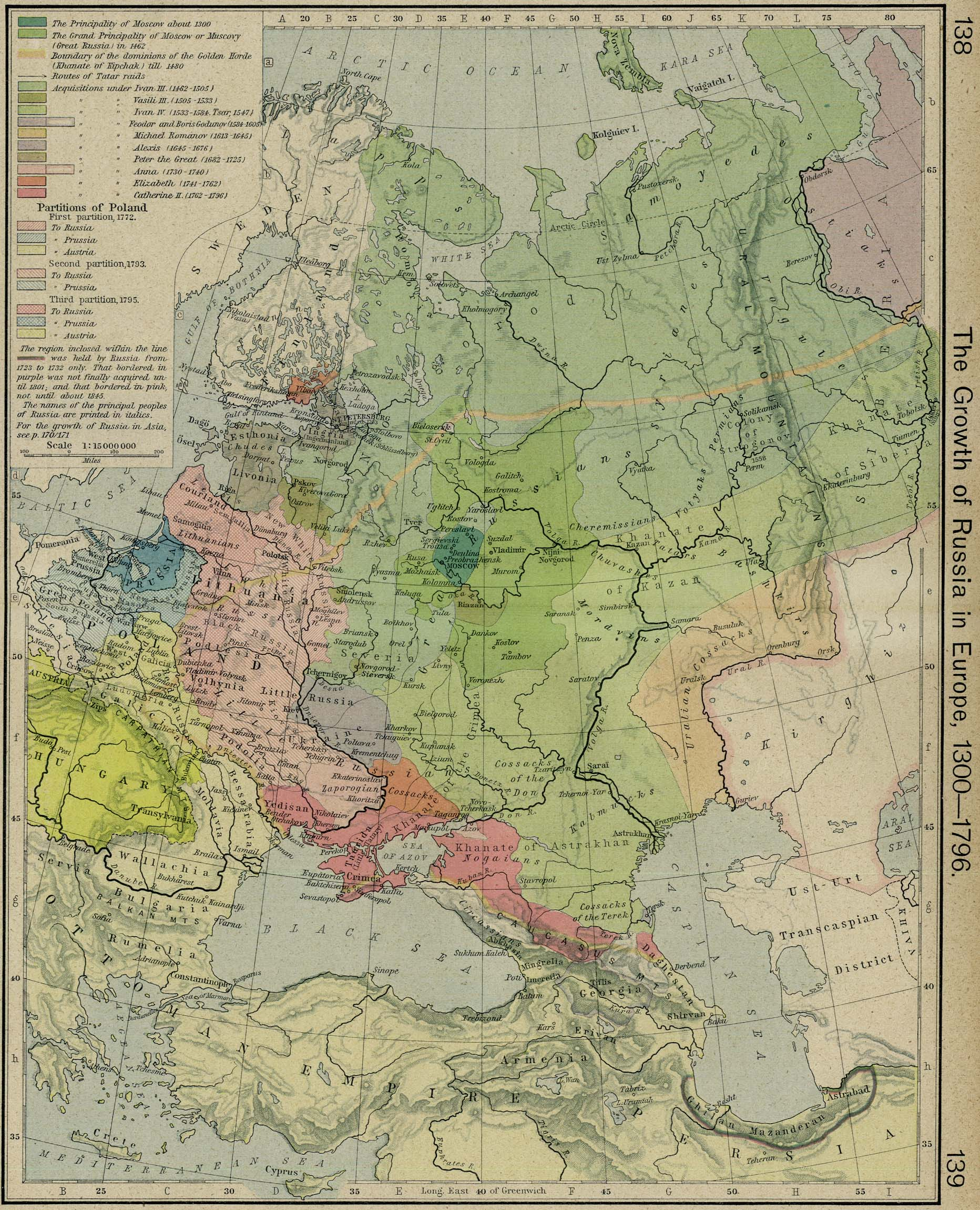 The Growth of Russia in Europe 1300-1796