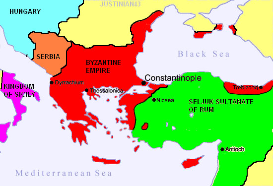 The Byzantine Empire in 1095