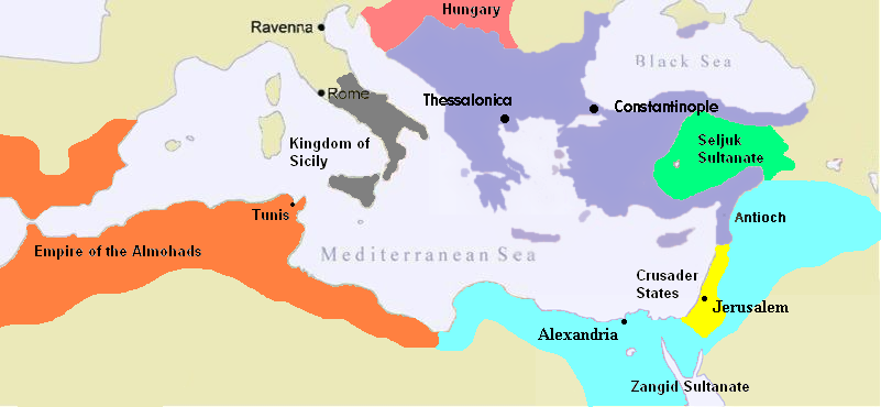 The Byzantine Empire in 1180