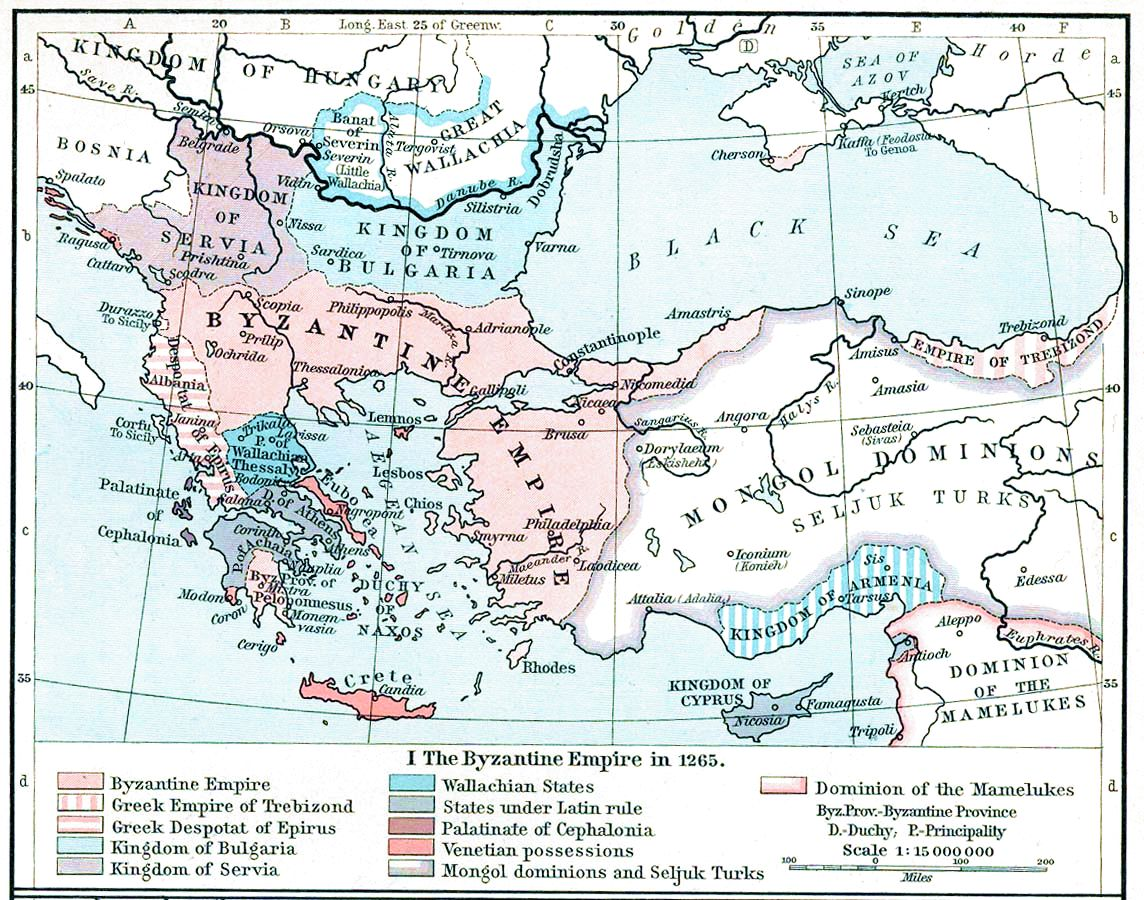 The Byzantine Empire or Eastern Roman Empire 1265