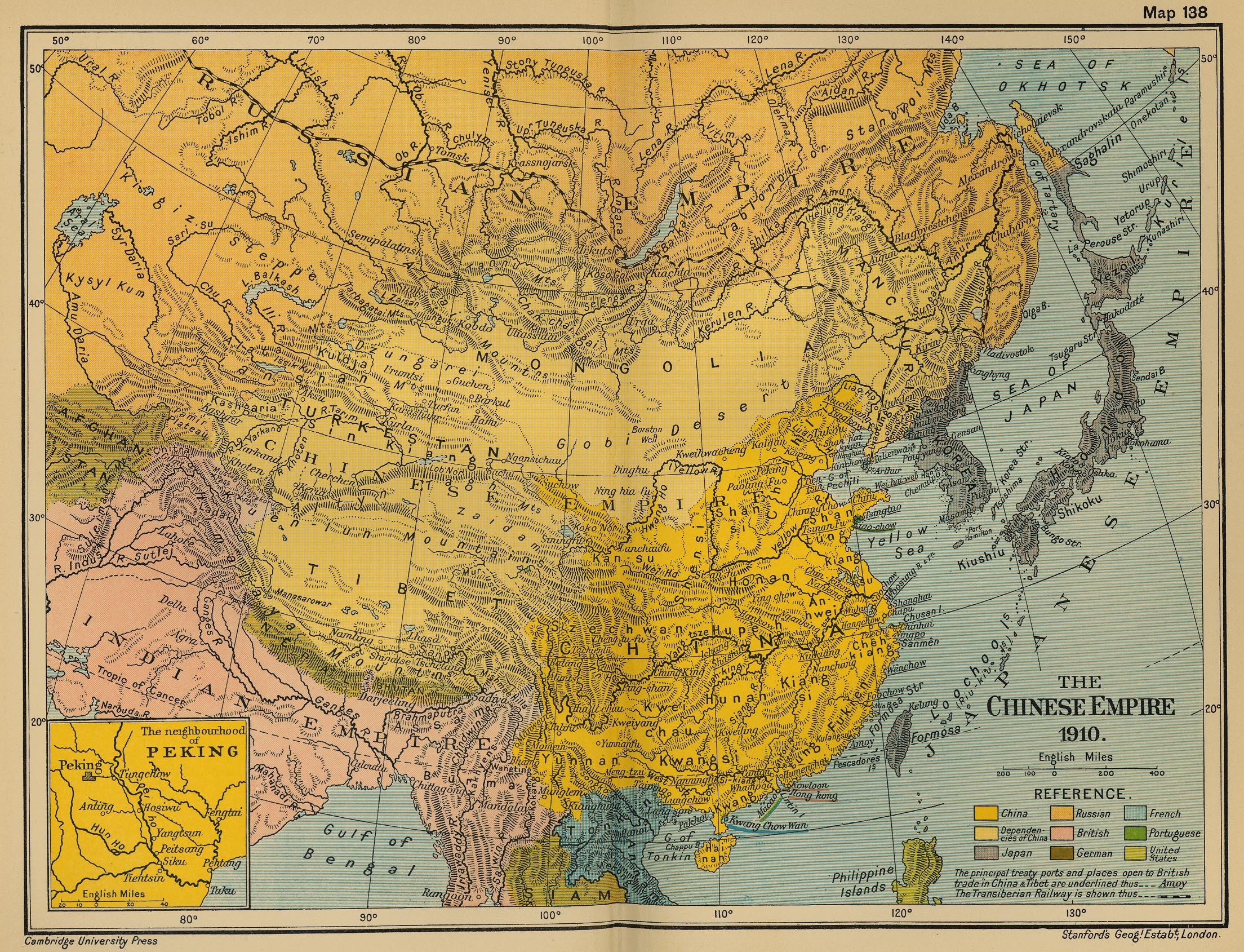 El Imperio Chino en 1910