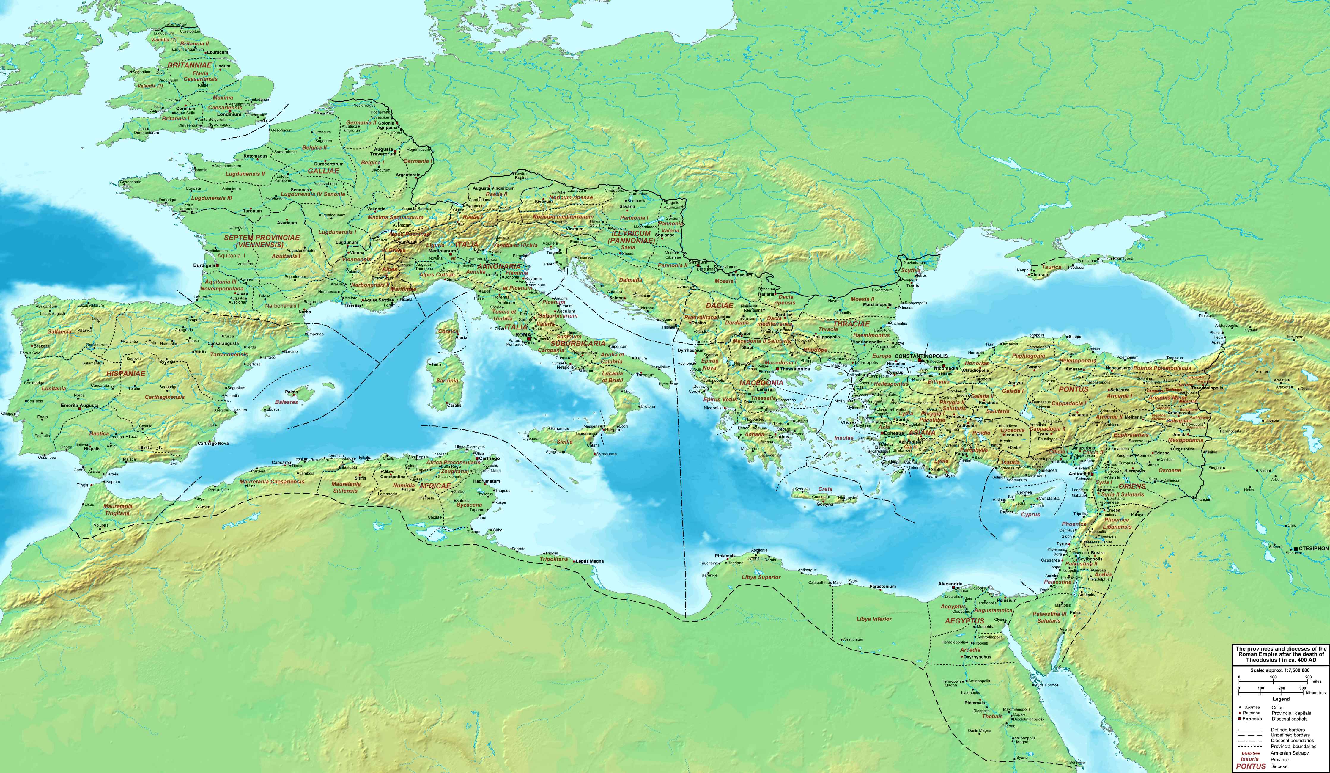 The Roman Empire ca. 400 AD