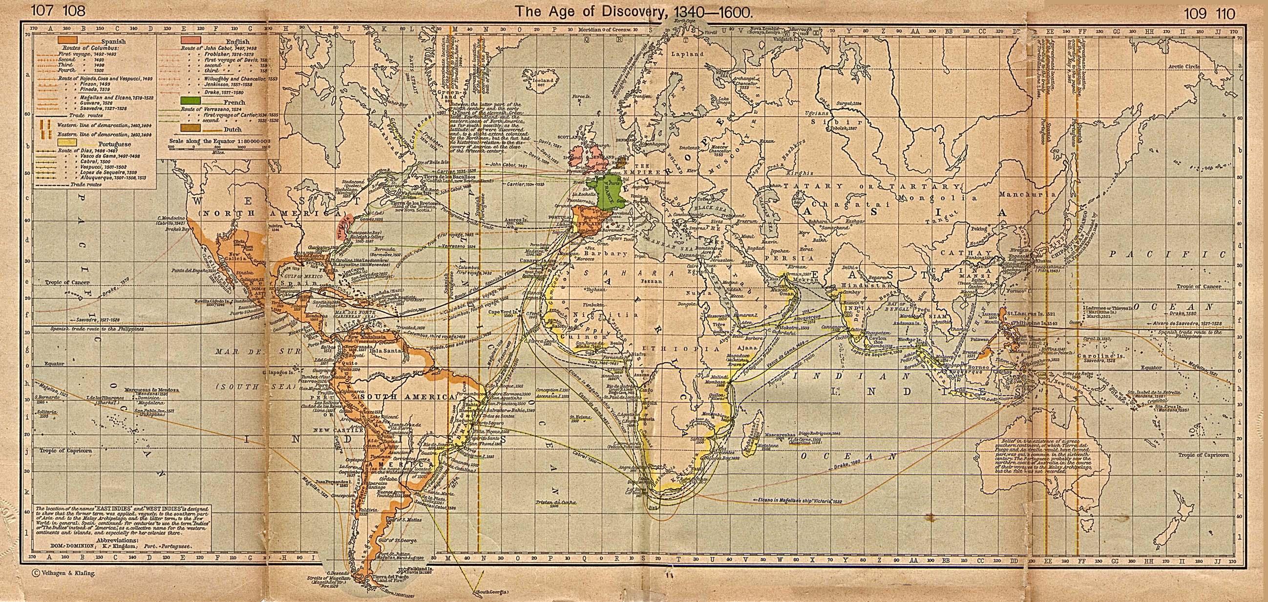 El Mundo a la Edad de los Descubrimientos 1340-1600