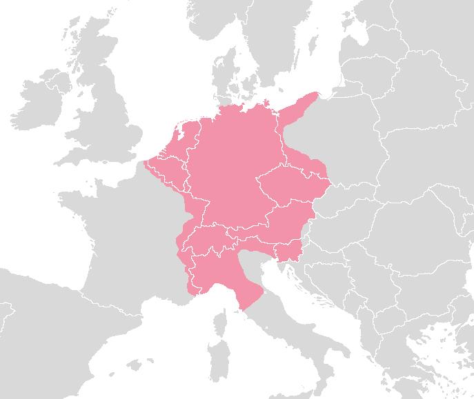 El Sacro Imperio Romano Germánico circa 1630