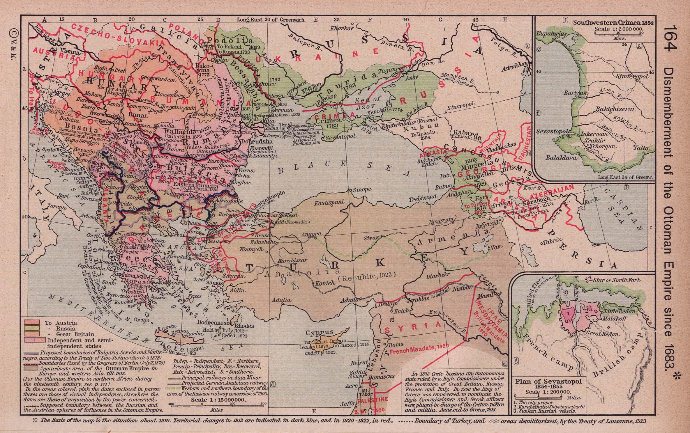 El desmembramiento del Imperio Otomano 1683-1923