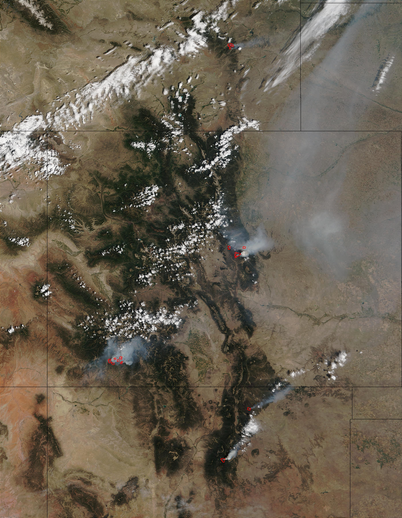 Hayman Fire and Others Scorch Western U.S.