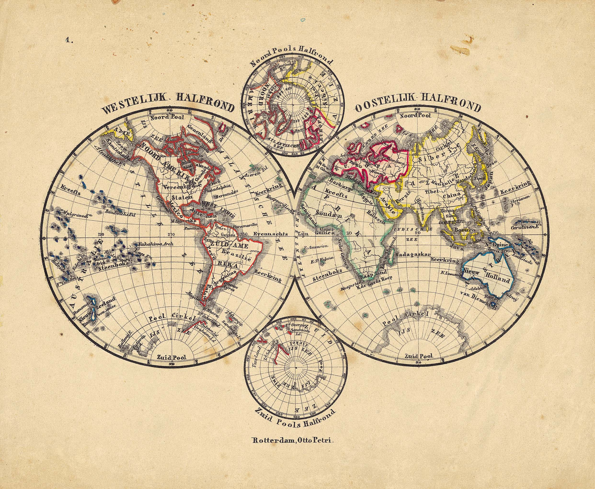 World map 1860