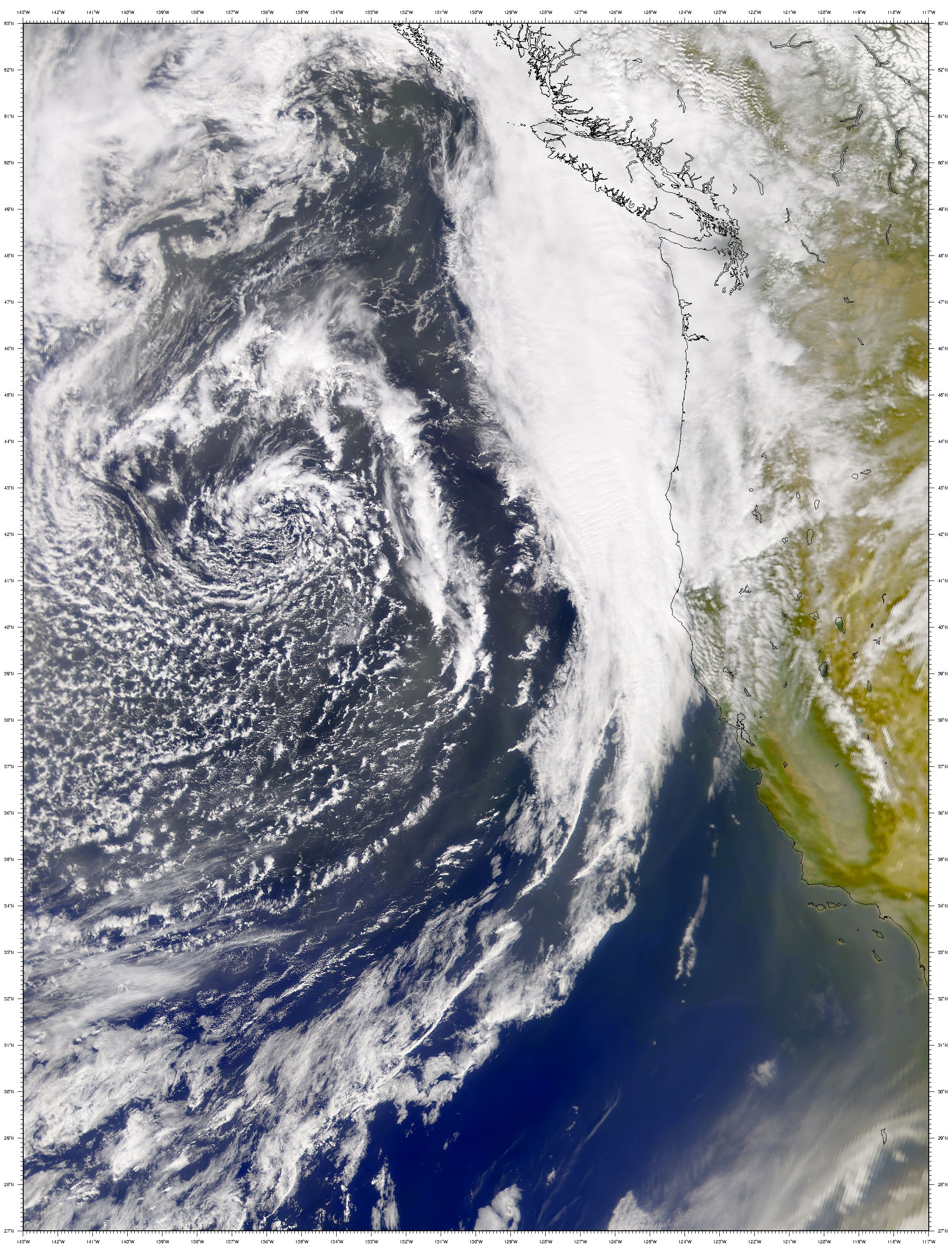 Asian Dust Arrives Over California
