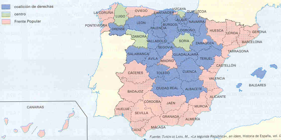a hypothesis of spain in 1936 This year is the 60th anniversary of the spanish civil war, which began in july 1936 when general franco led a fascist coup to replace the left-wing republican government it was no coincidence that this happened at a time of intense class struggle in spain limited concessions granted in the face of.