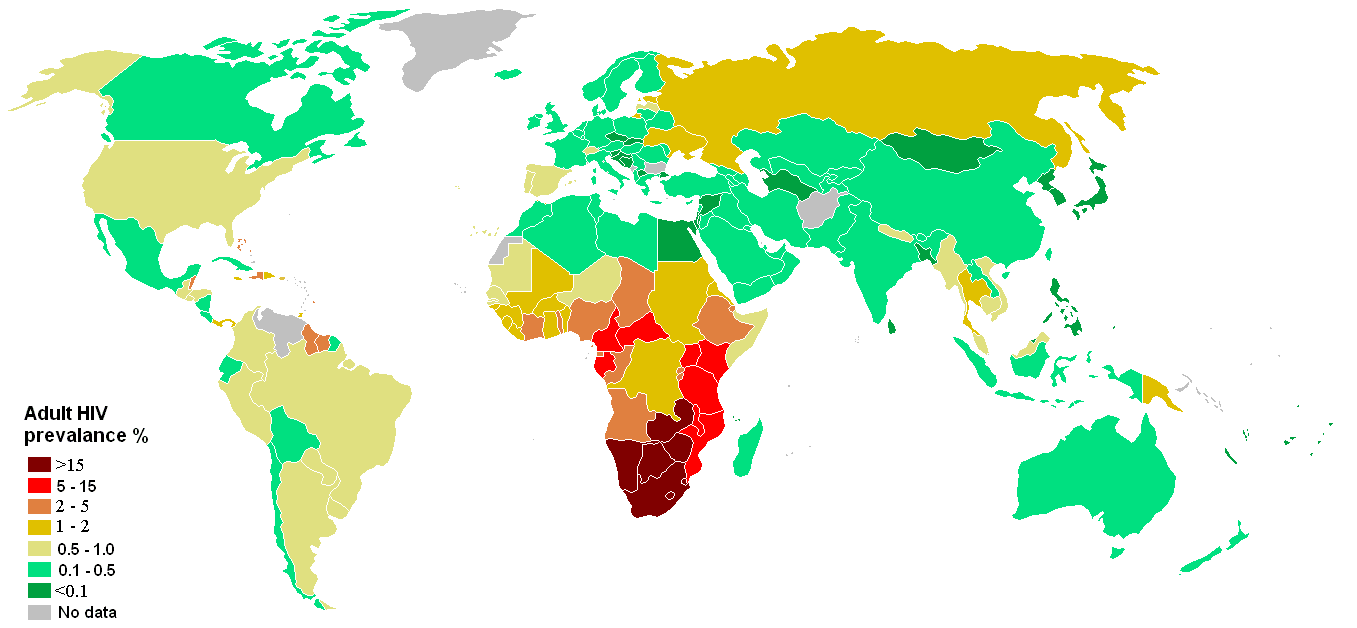 World HIV and AIDS epidemic 2008