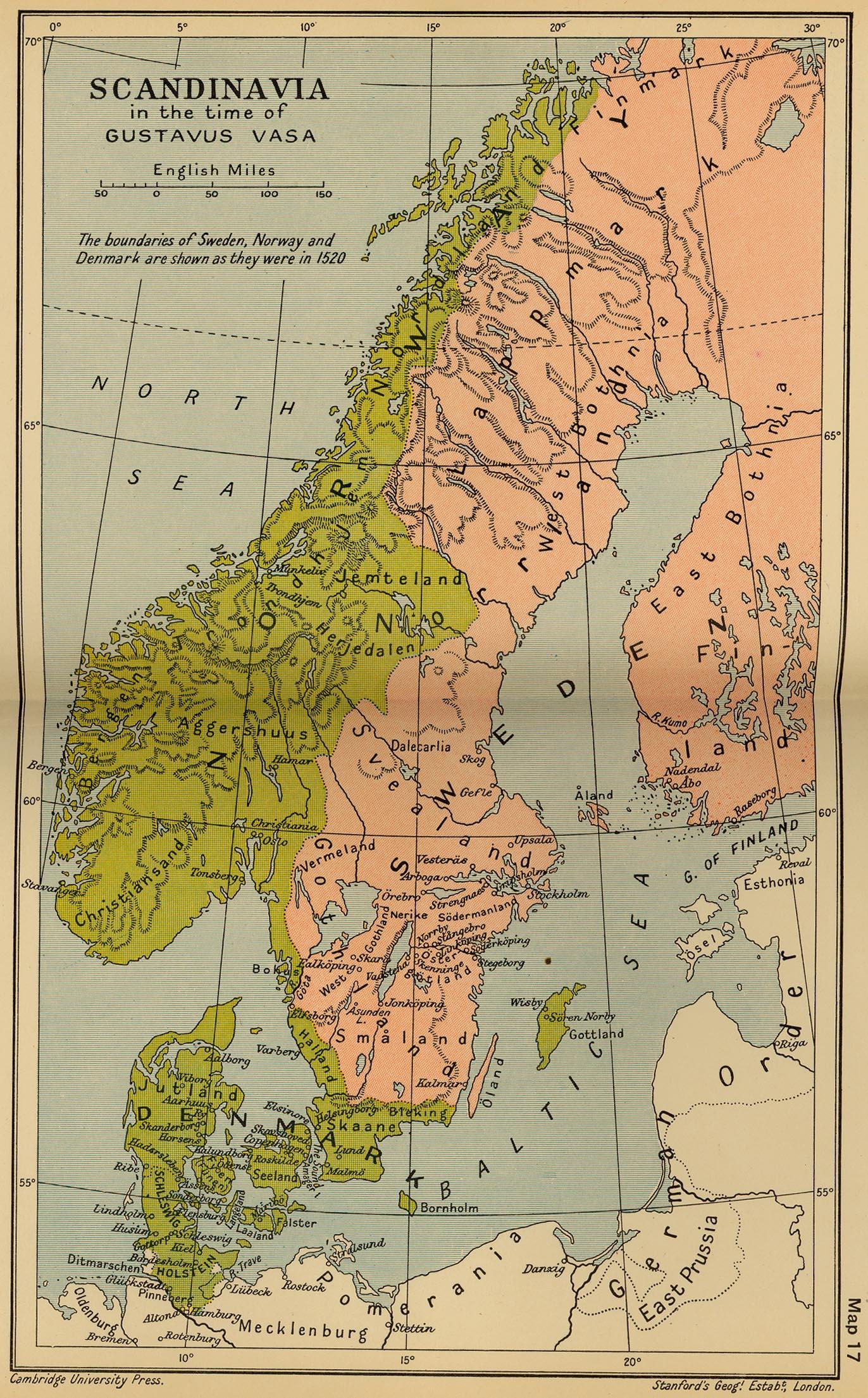 Escandinavia en 1523